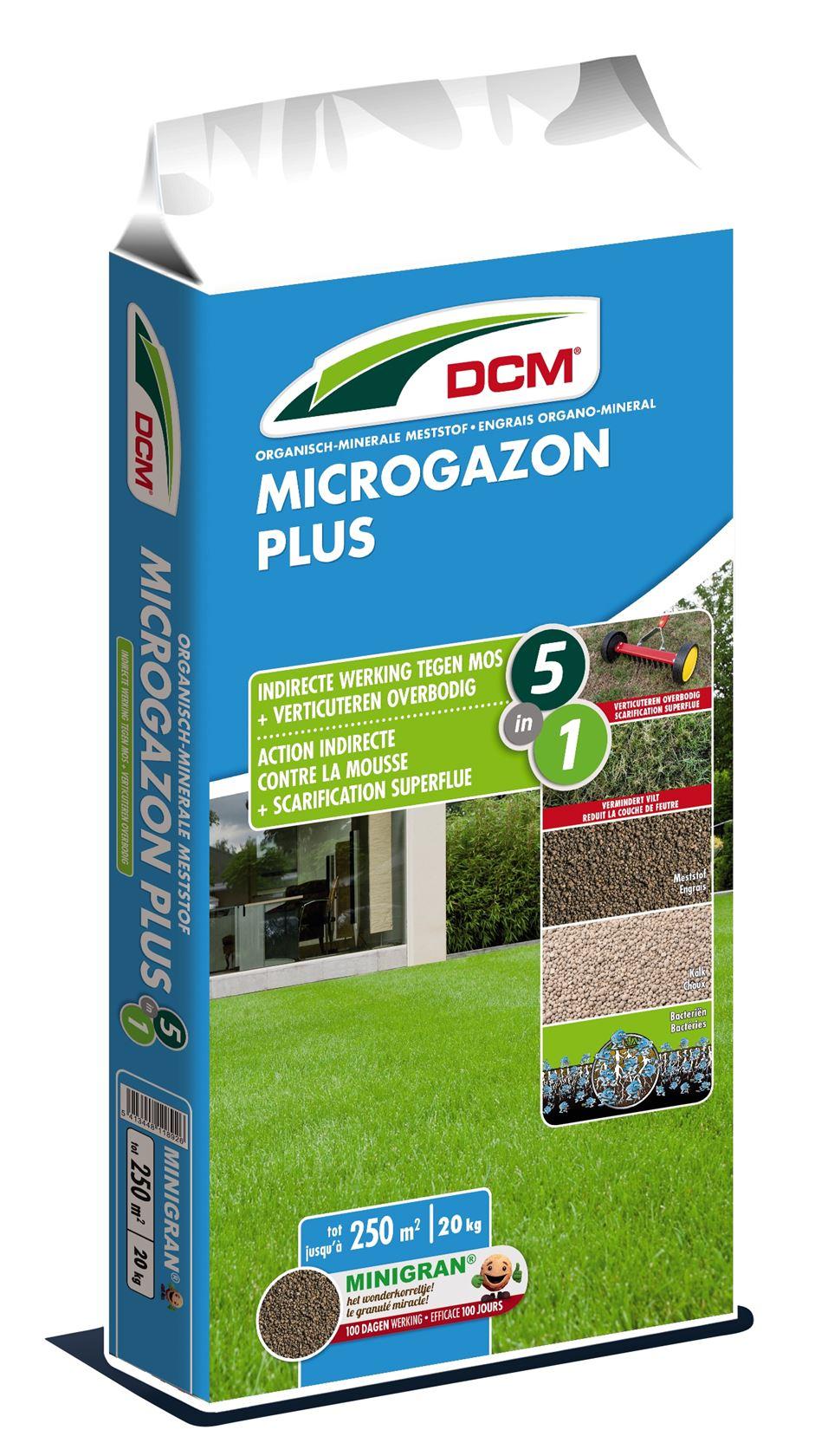 Gazonmeststof-microgazon-plus-20kg-5in1-NPK-7-4-17-8Ca-3MgO-Bacillus-sp-