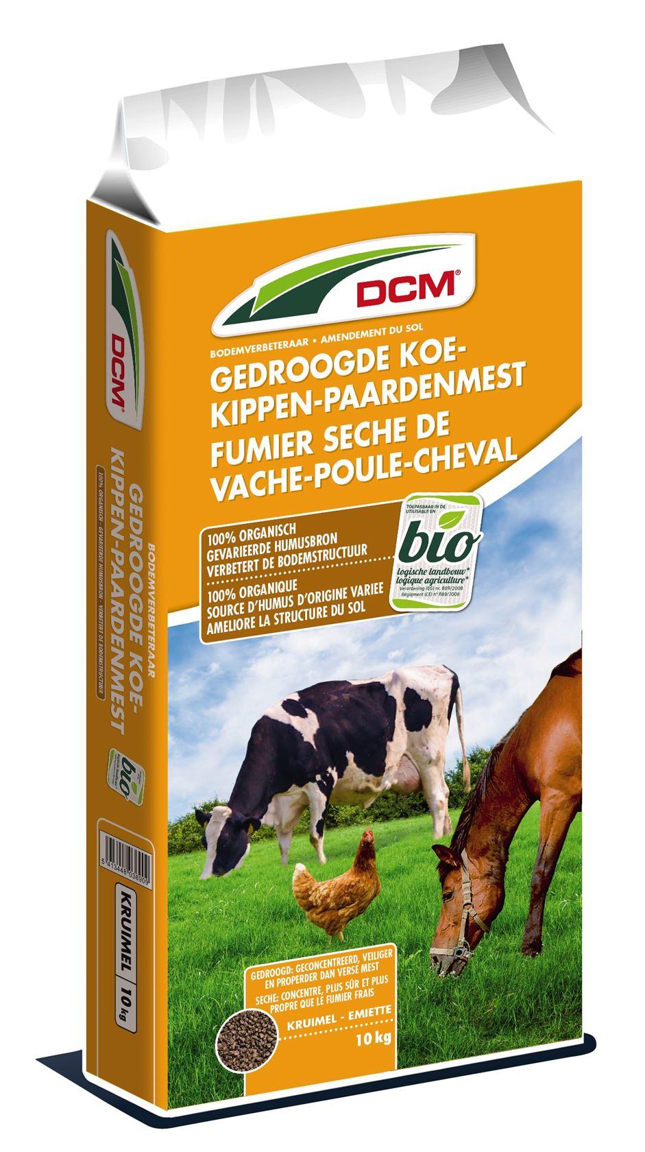 Gedrooge-koemest-kippenmest-paardenmest-10kg-Bio