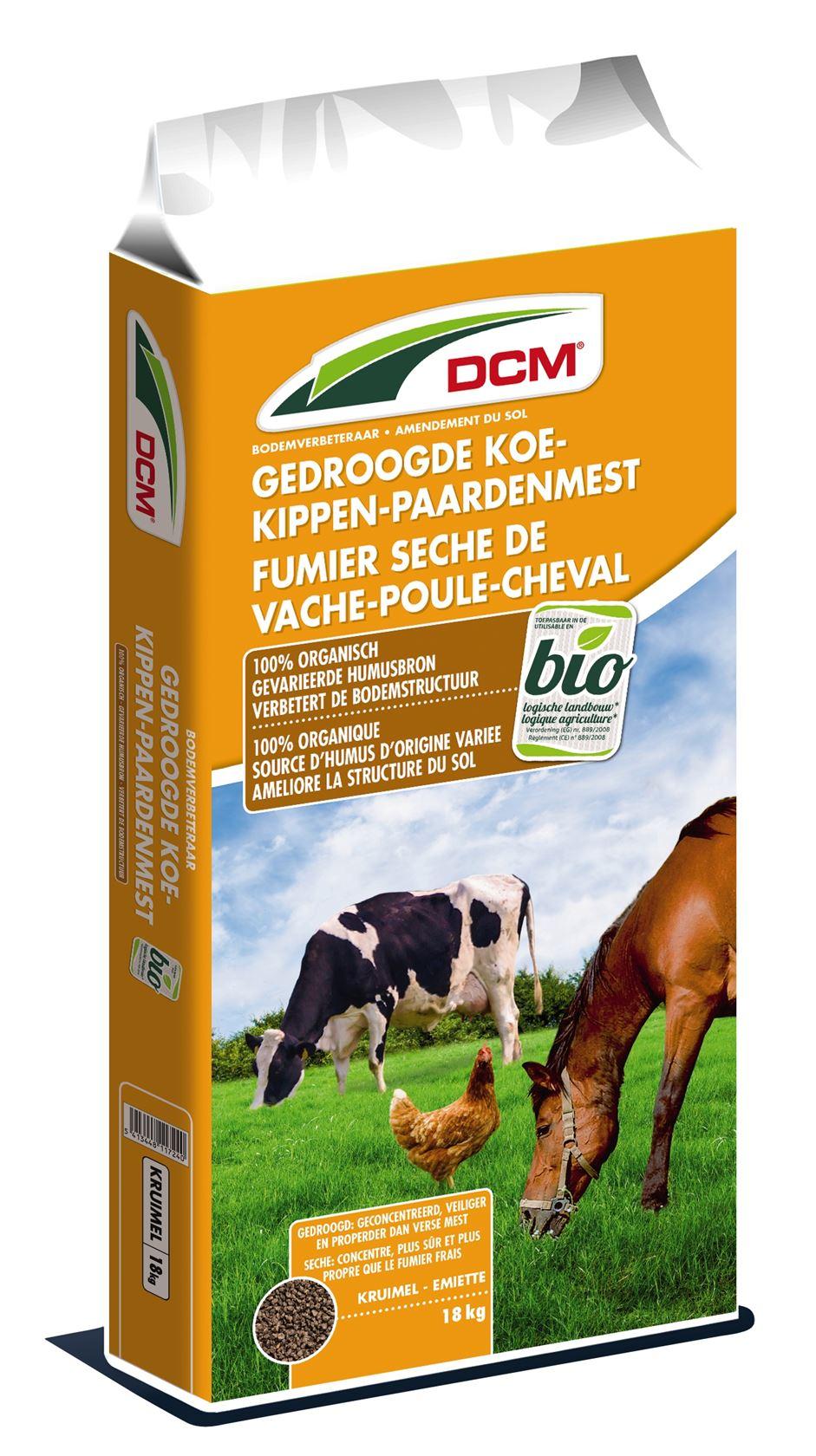 Gedrooge-koemest-kippenmest-paardenmest-18kg-Bio