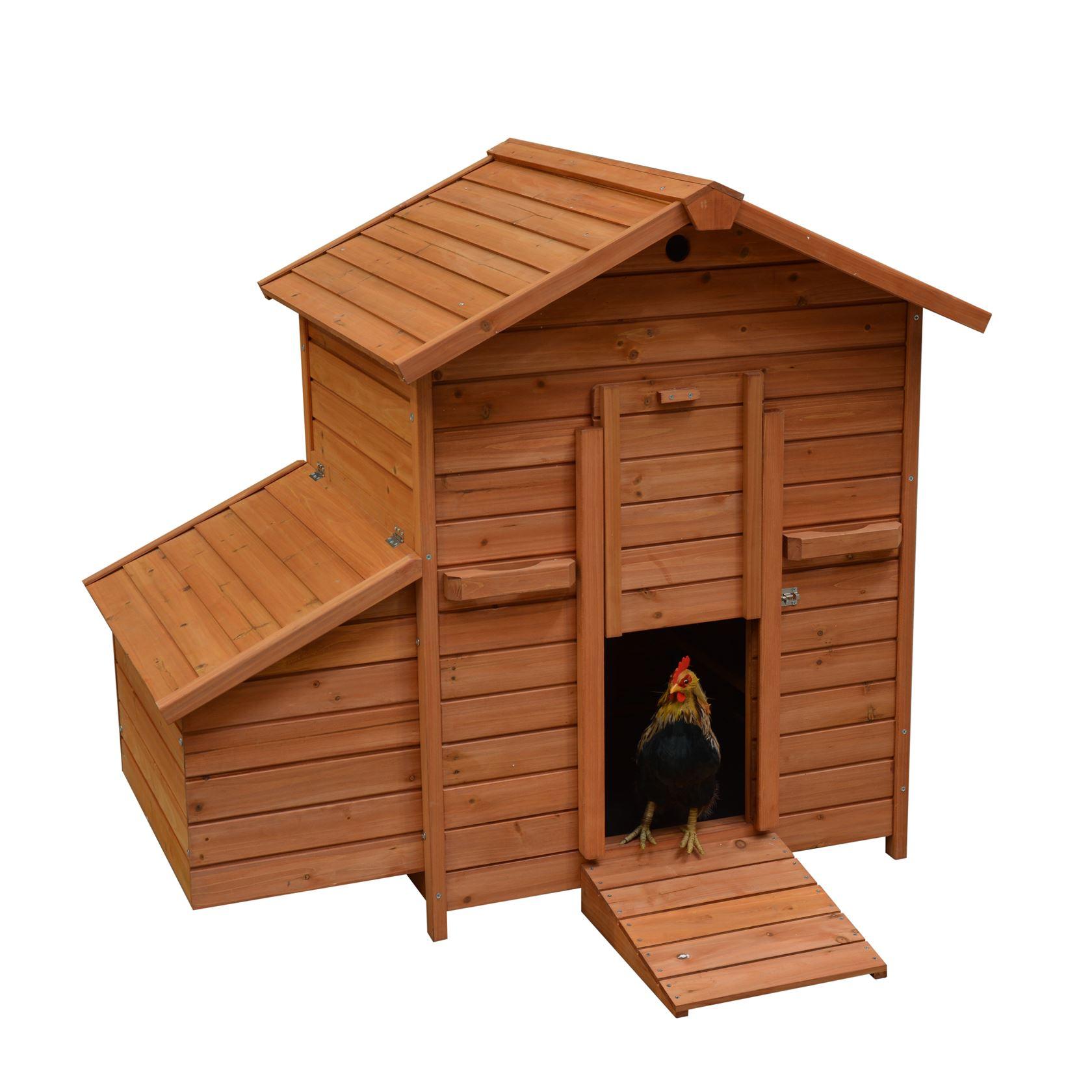 Woodland-kippenhok-GOLDIE-121x81-6x109cm-Bruin-Rood