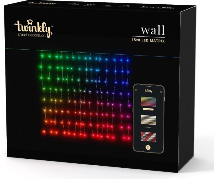 Rideau lumineux scintillant multicolore 120 LED avec application mobile