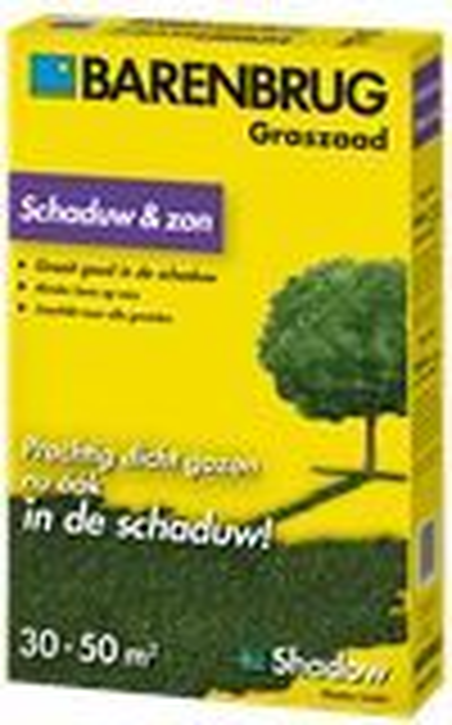 Shadow - schaduw graszaad voor in de schaduw en zon - 1kg gecoat