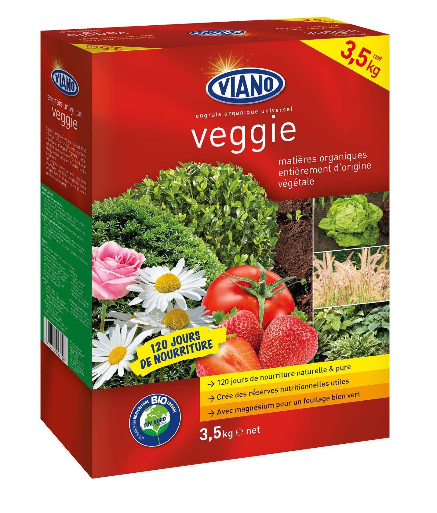 Viano Veggie meststof 100% plantaardig 4kg