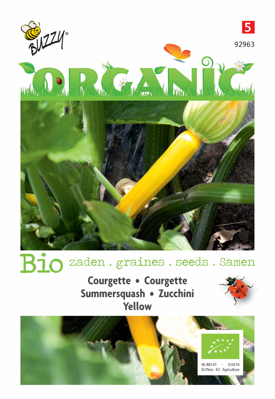 Bio Courgette Yellow
