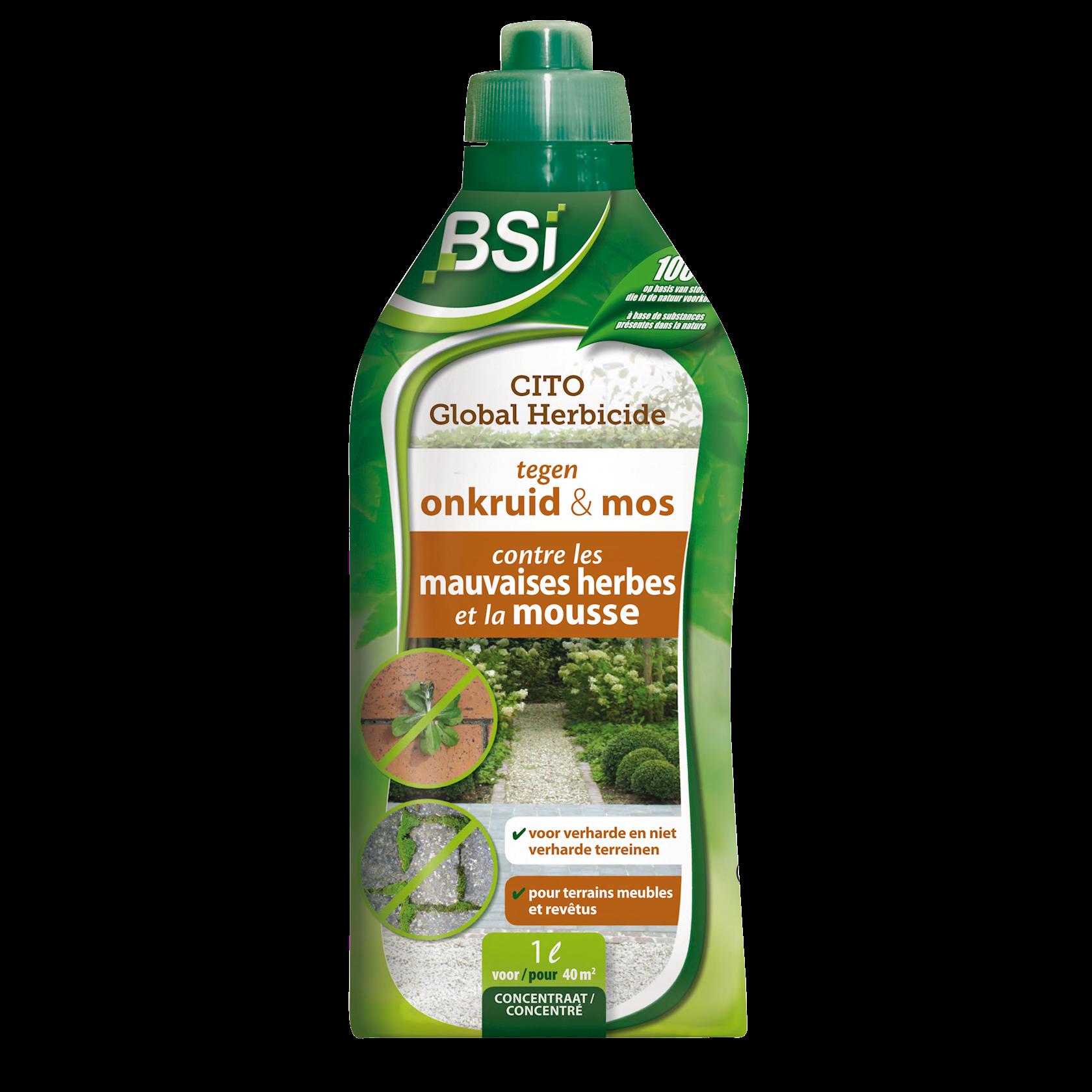 Cito global natuurlijke onkruidverdelger & mosverdelger 1L voor 40 m² (azijnzuur)
