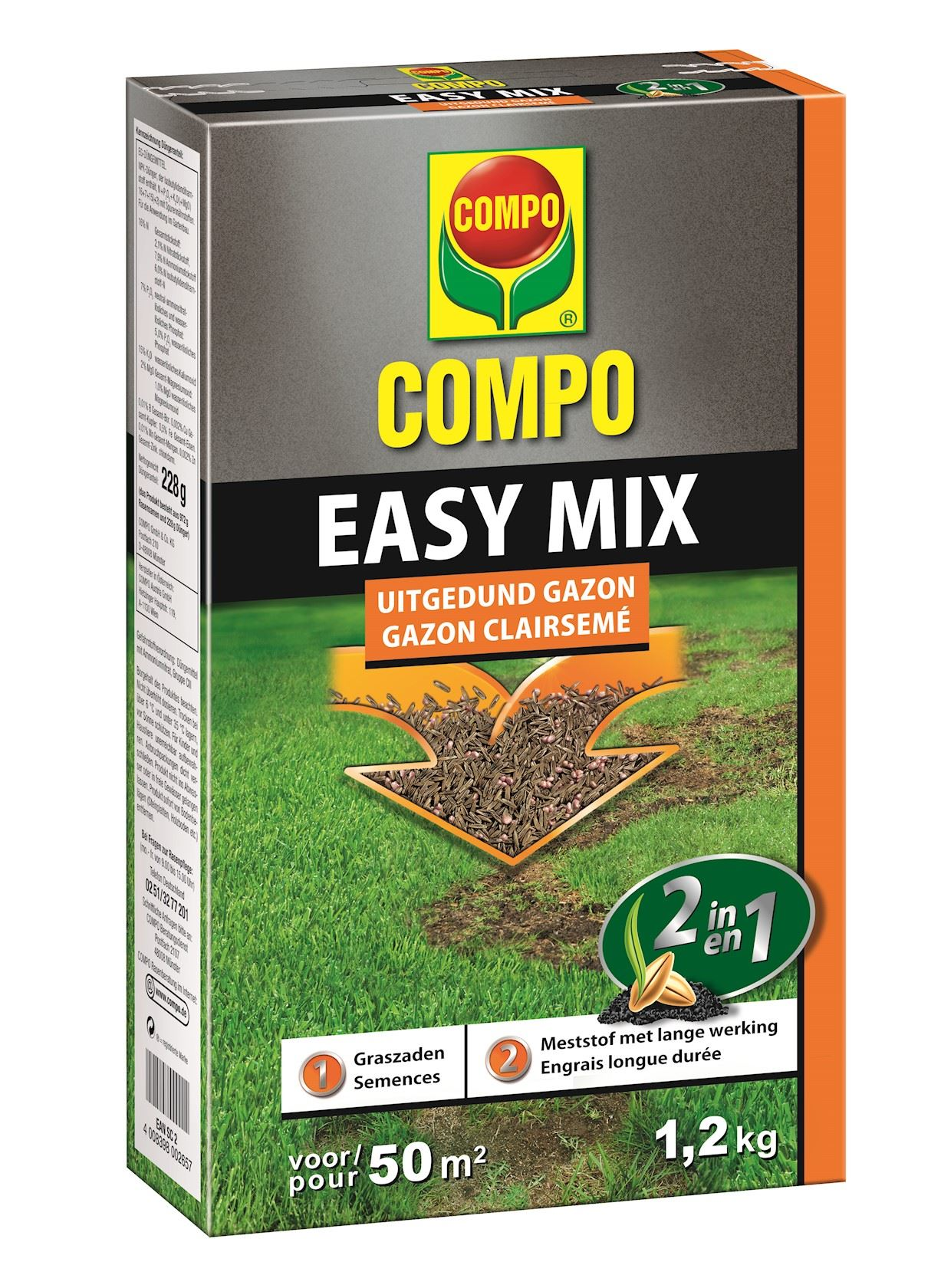 Compo easy mix 2 in 1- 1,2kg