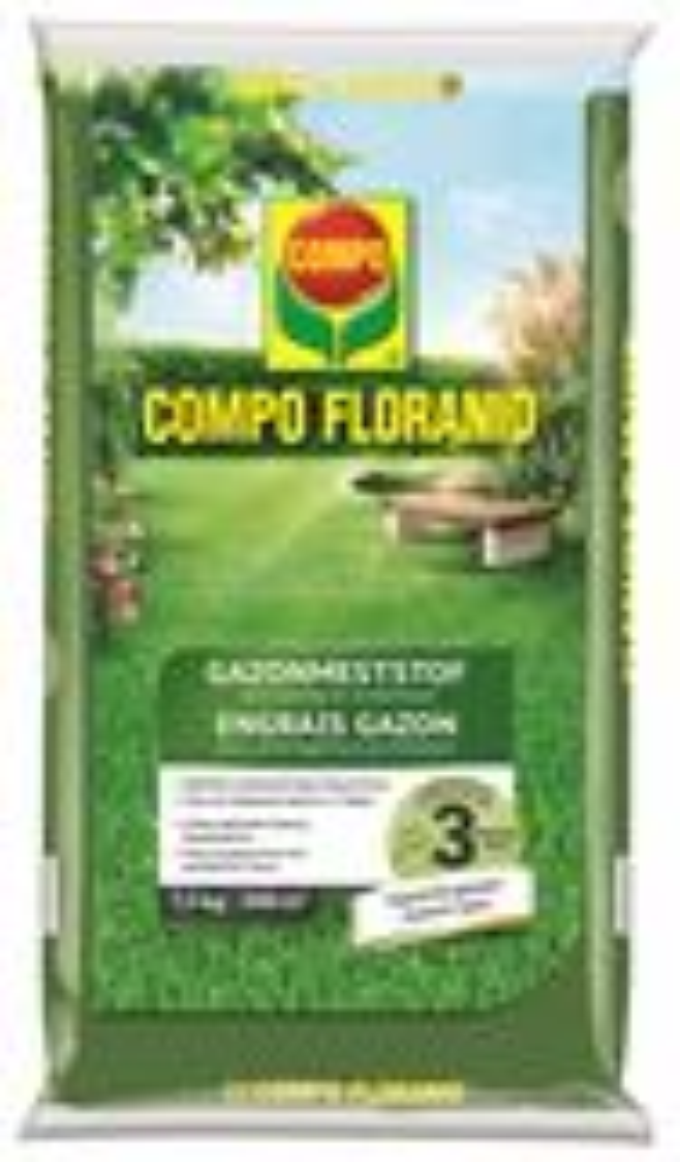Compo floranid gazonmeststof voor aanleg & onderhoud - 7,5kg