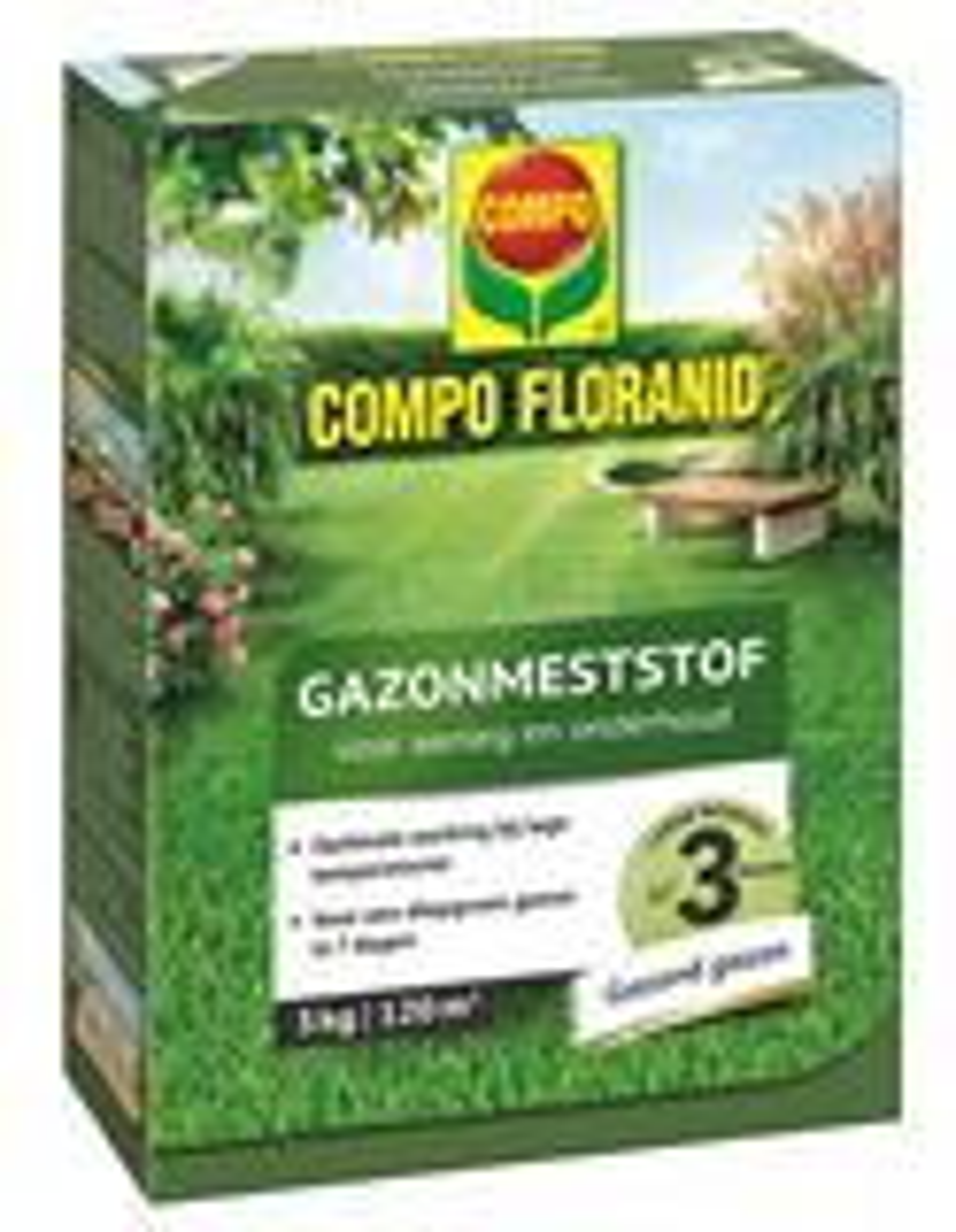 Compo floranid gazonmeststof voor aanleg & onderhoud - 120 m² - 3kg