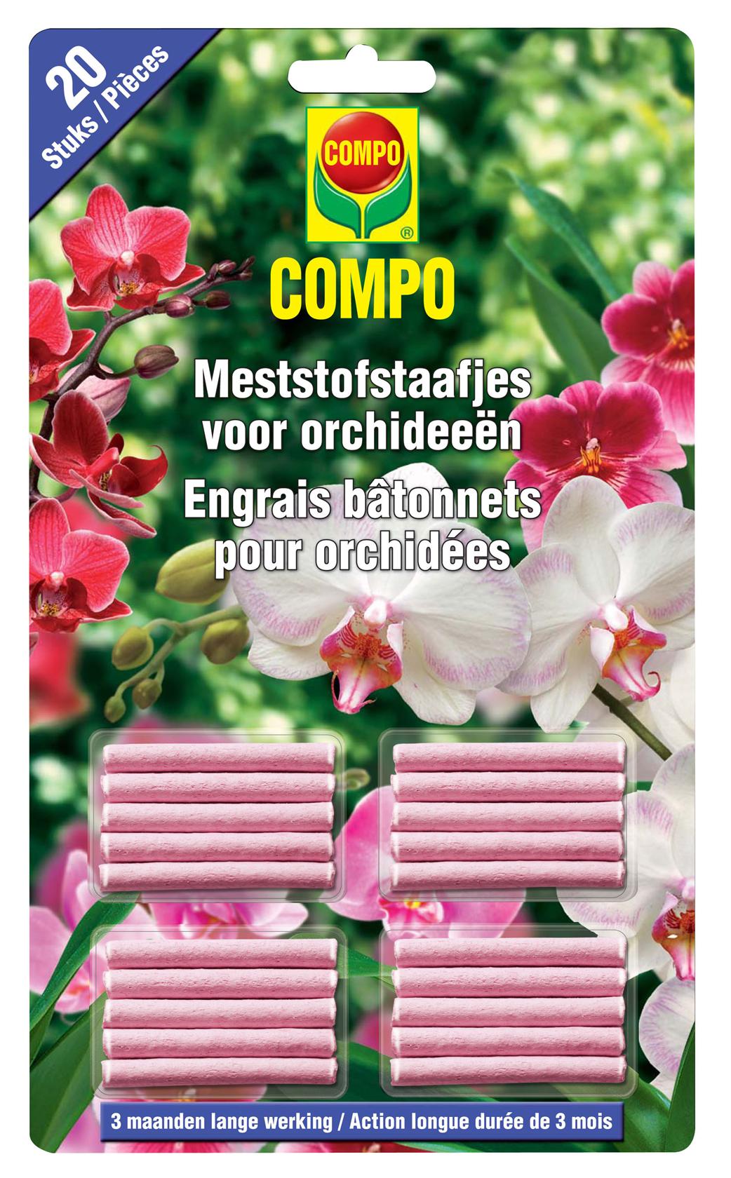 Compo meststofstaafjes orchideeën - 20 stuks