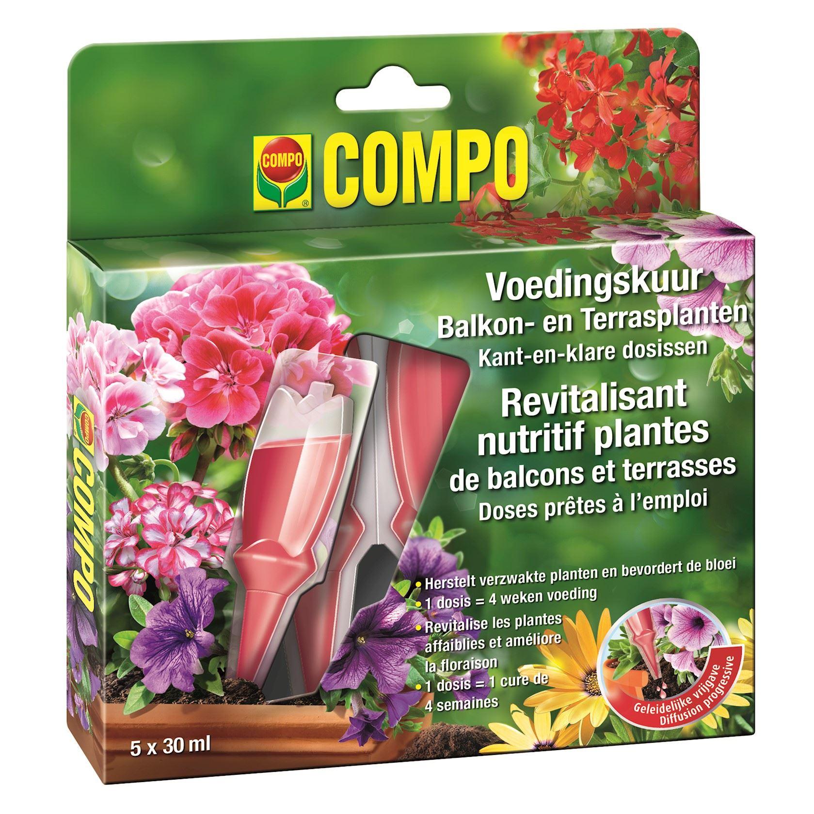 Compo voedingskuur balkonplanten - 150ml (5x30ml)