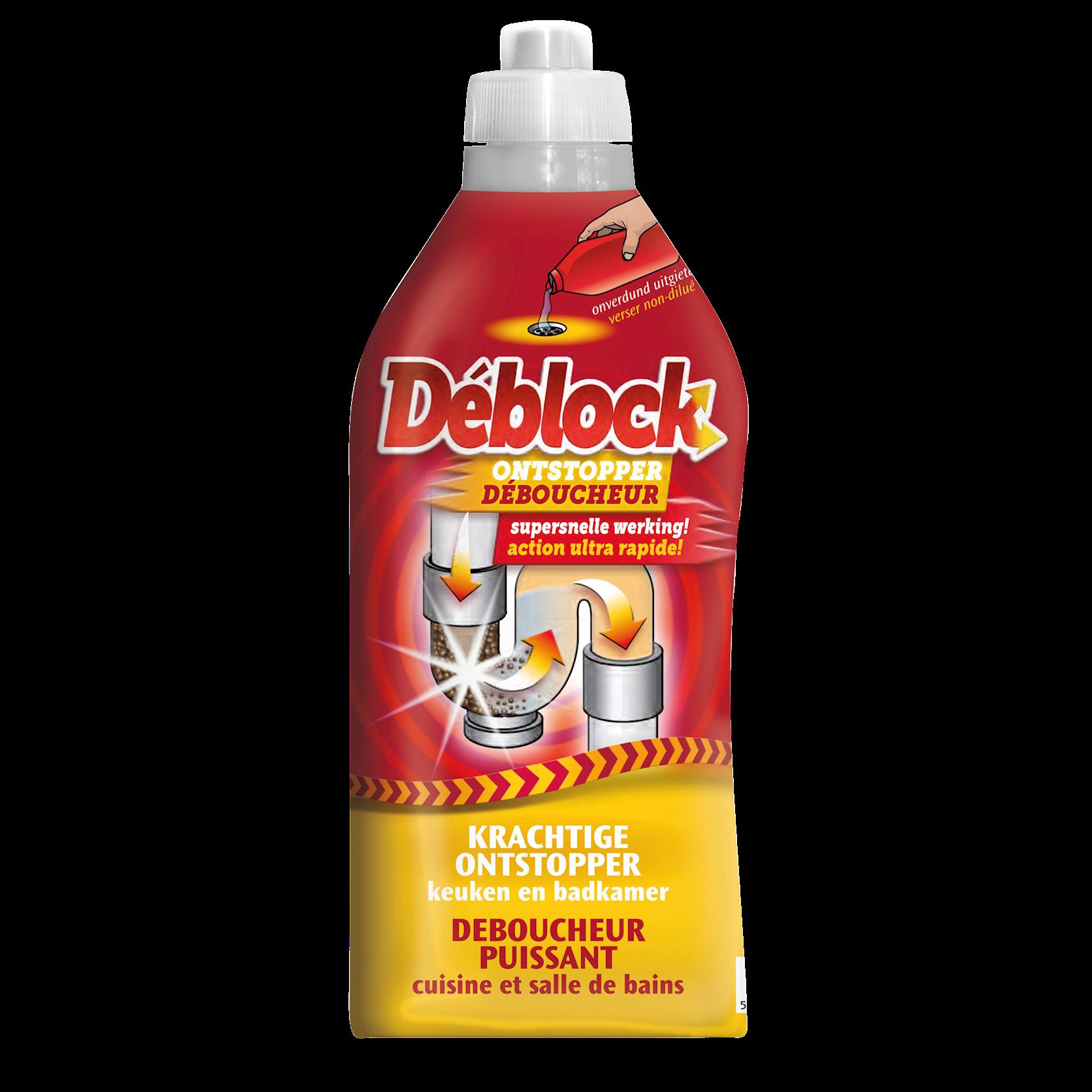 Deblock krachtige ontstopper 1 L - lost vuil op in de keuken en badkamer