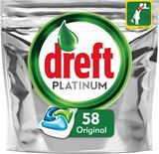 Dreft Vaatwastabletten Platinum Original - 58 stuks
