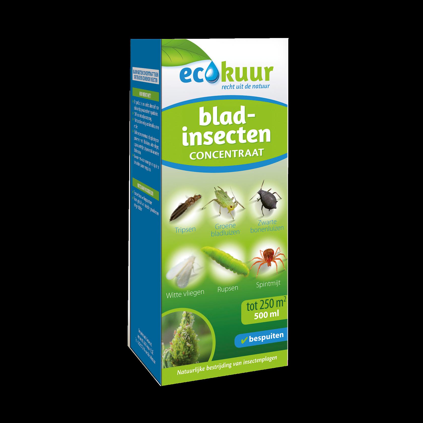 Ecokuur bladinsecten 500ml concentraat: tegen vretende en zuigende insecten