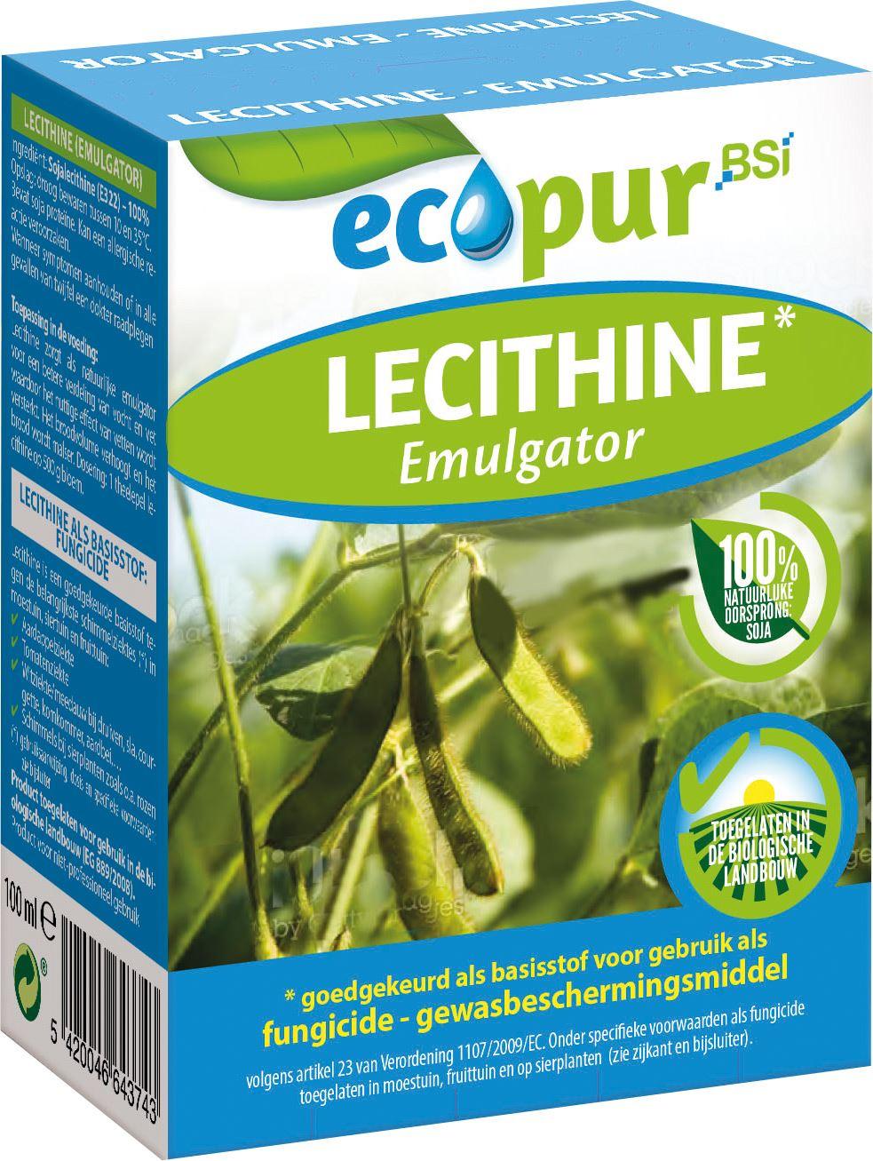 Ecopur Lecithine 100ml - tegen bladziekten zoals aardappelziekte, tomatenziekte, witziekte, krulziete op perik en valse meeldauw