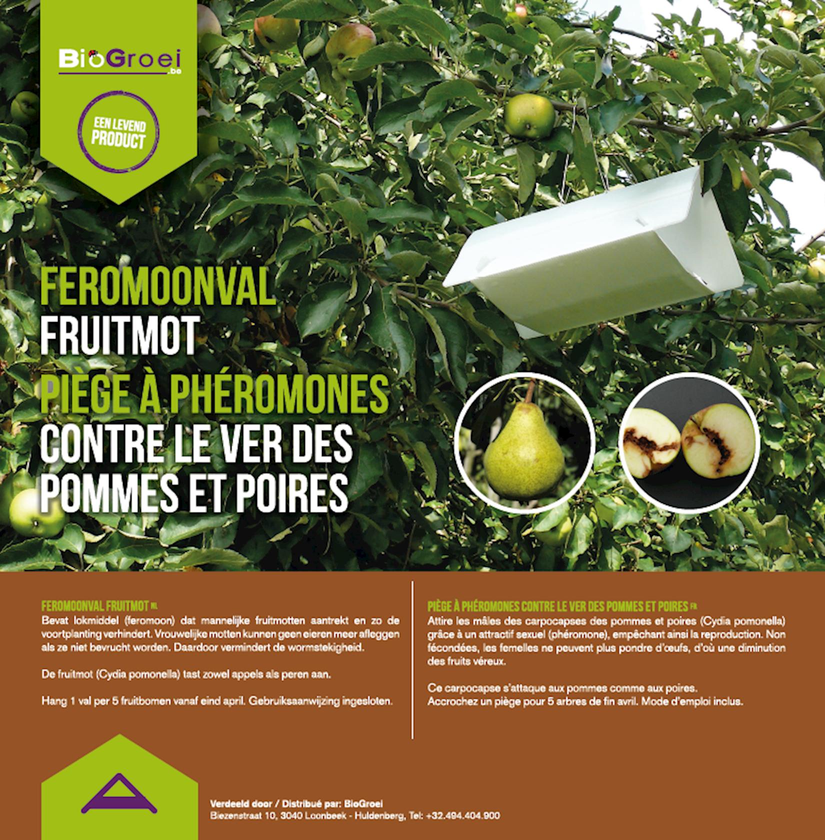 Feromoonval tegen fruitmot + 2 feromonen