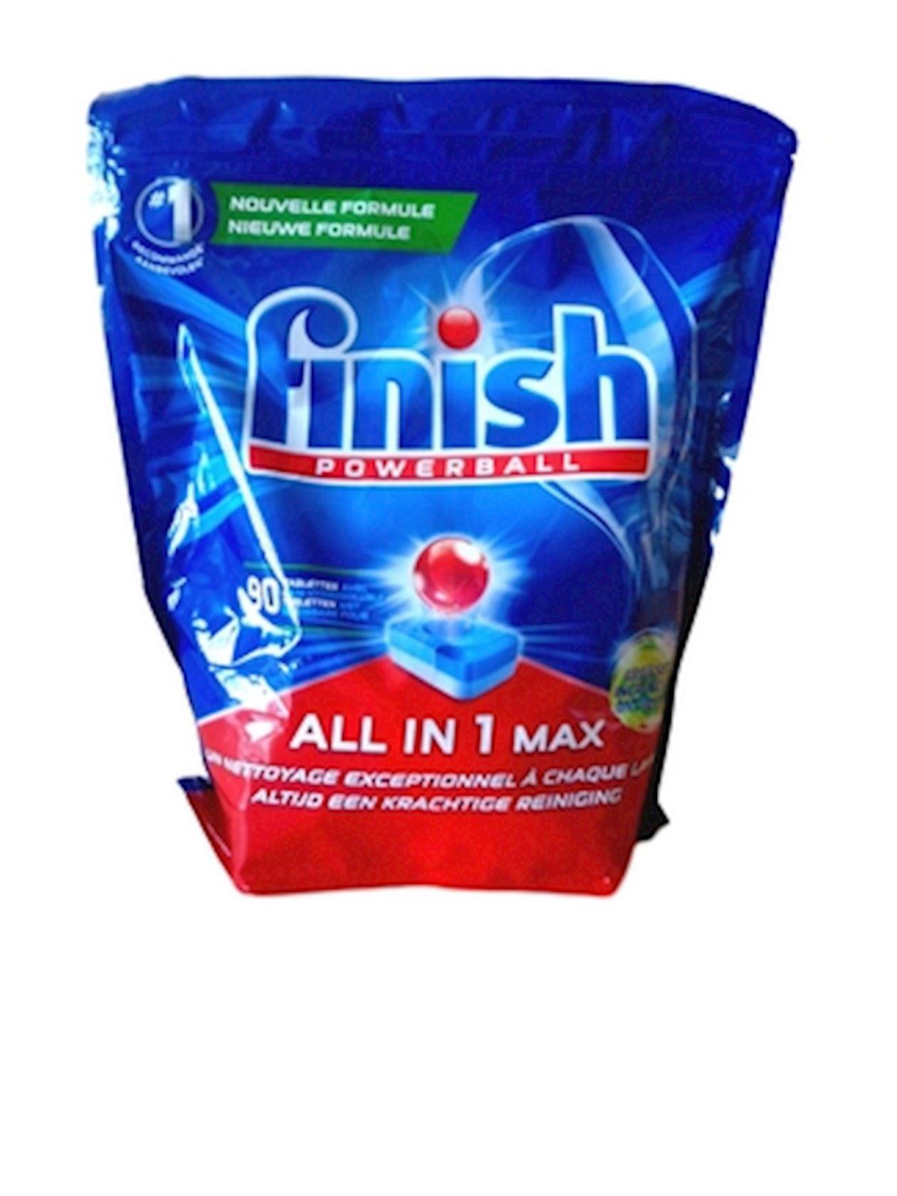 Finish Powerball All in One max Vaatwastabletten - 90 stuks