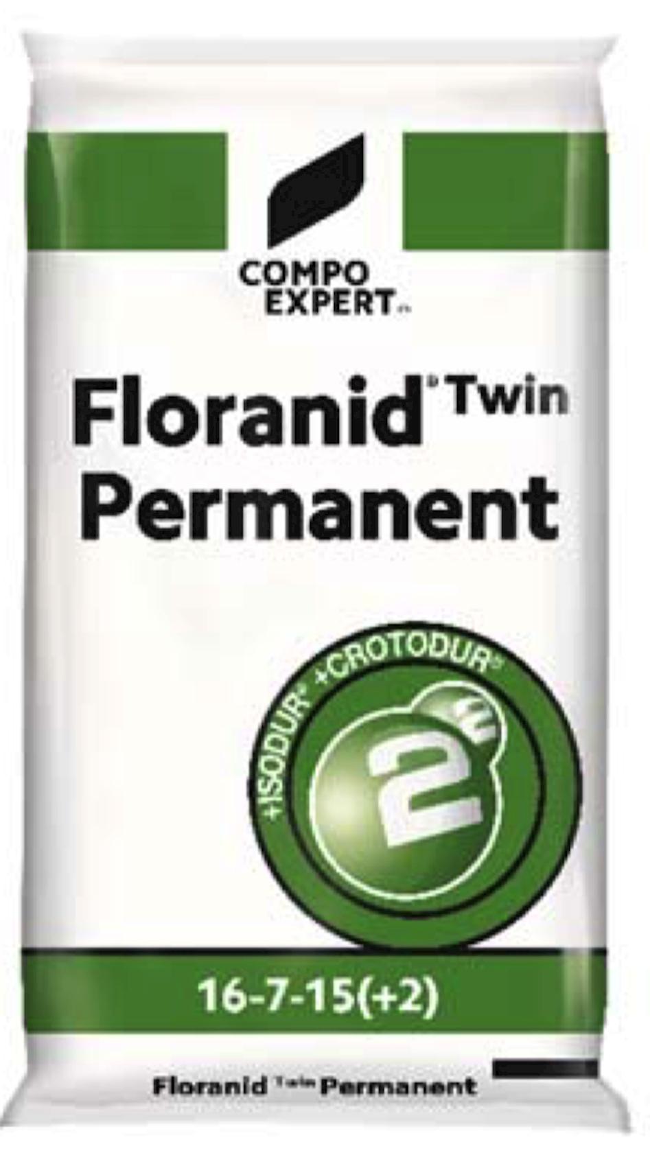 Floranid Twin permanent voor gazon 16-7-15 (+2MgO) 25kg
