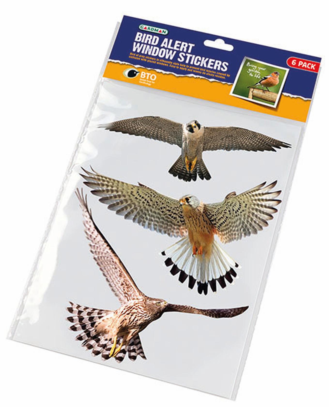 Raamstickers 6st Vogels