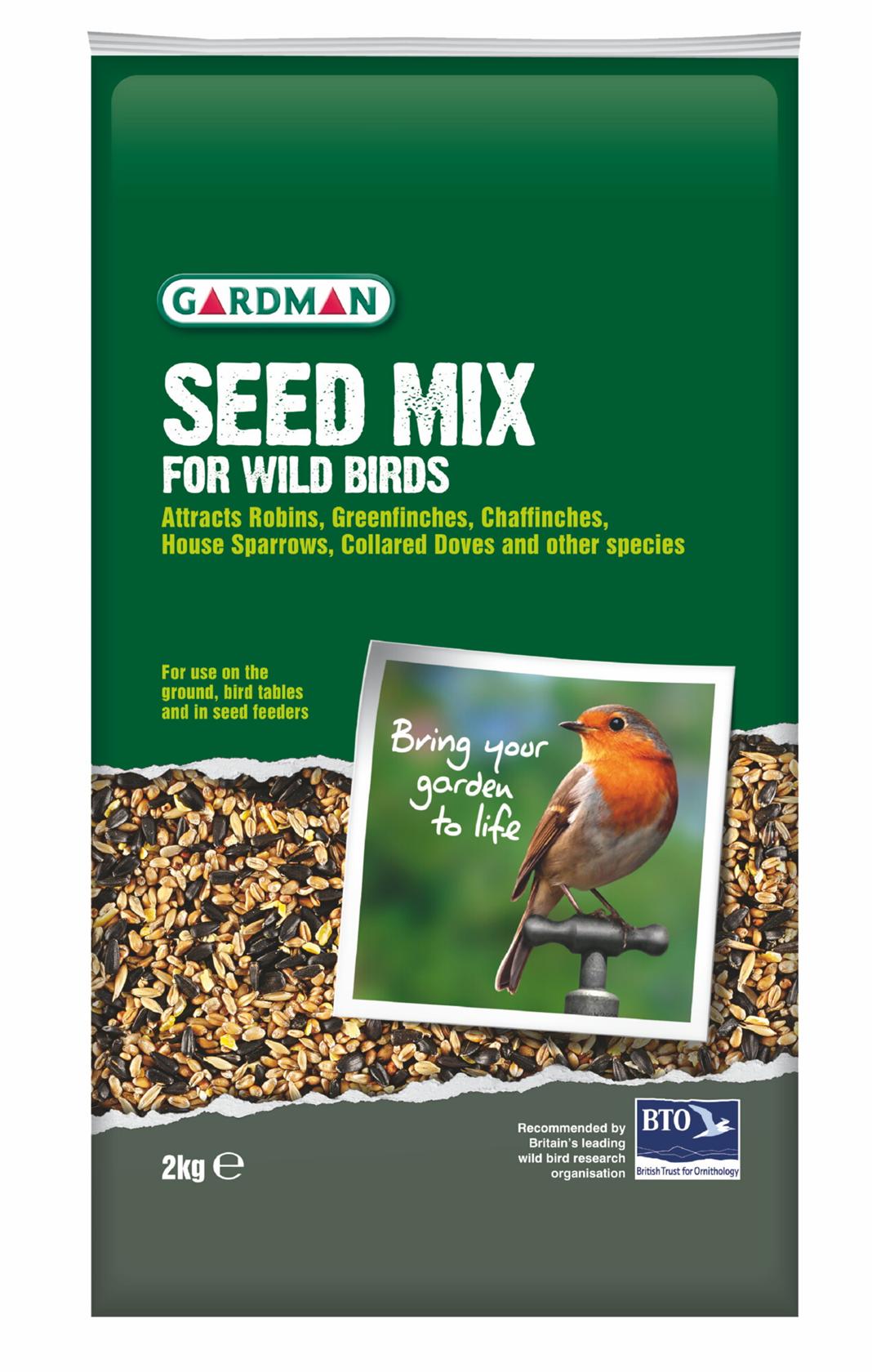 Zaadmix voor wilde vogels 2 kg