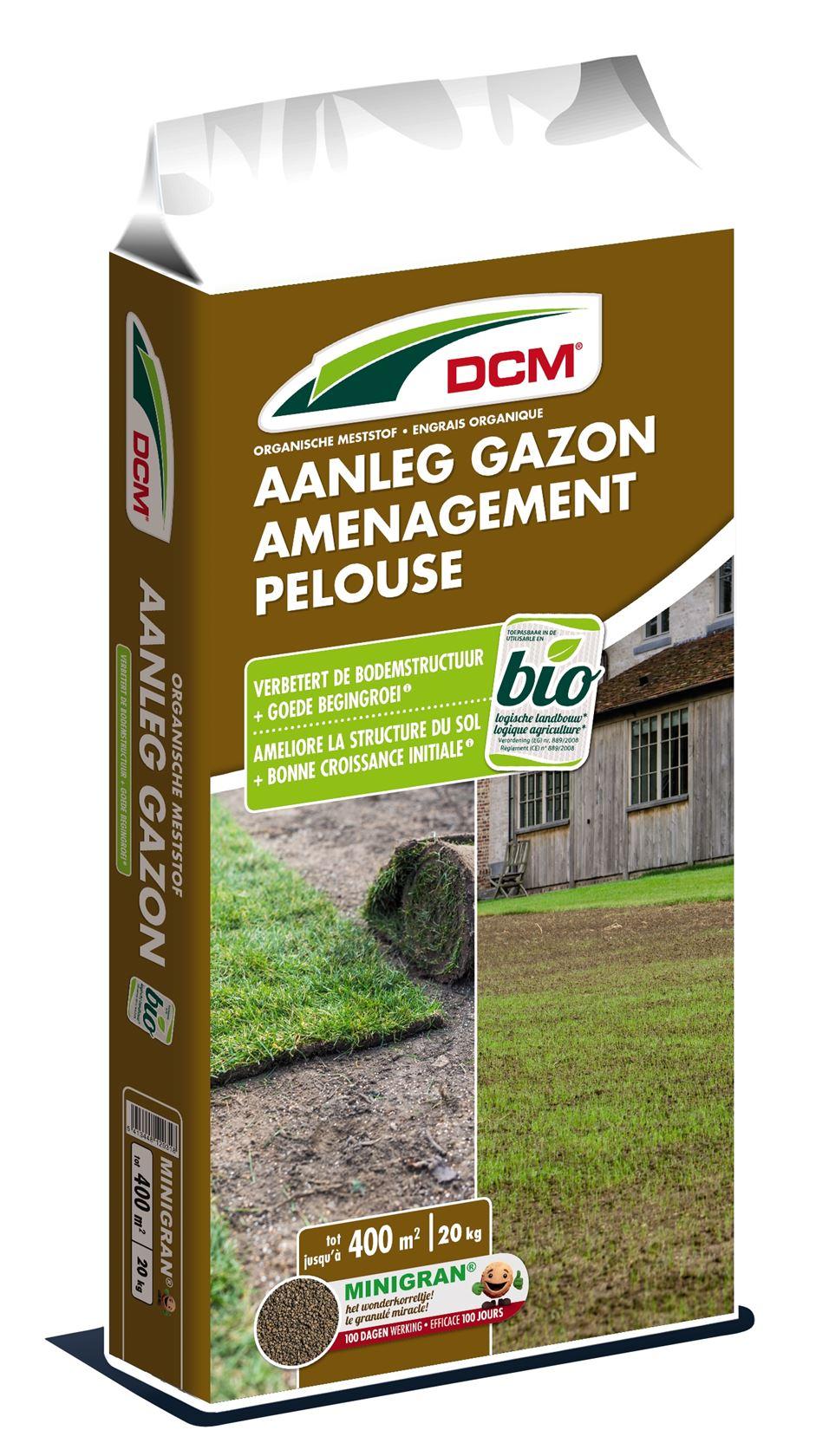 Gazonmeststof-bodemverbeteraar-aanleg-gazon-20kg-Bio-NPK-5-4-3