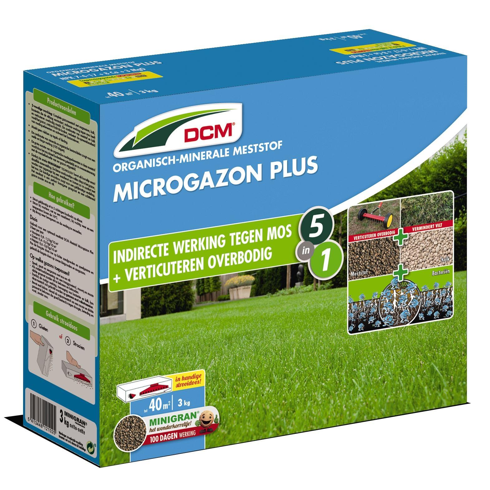 Gazonmeststof 'microgazon plus' 3kg - 5in1