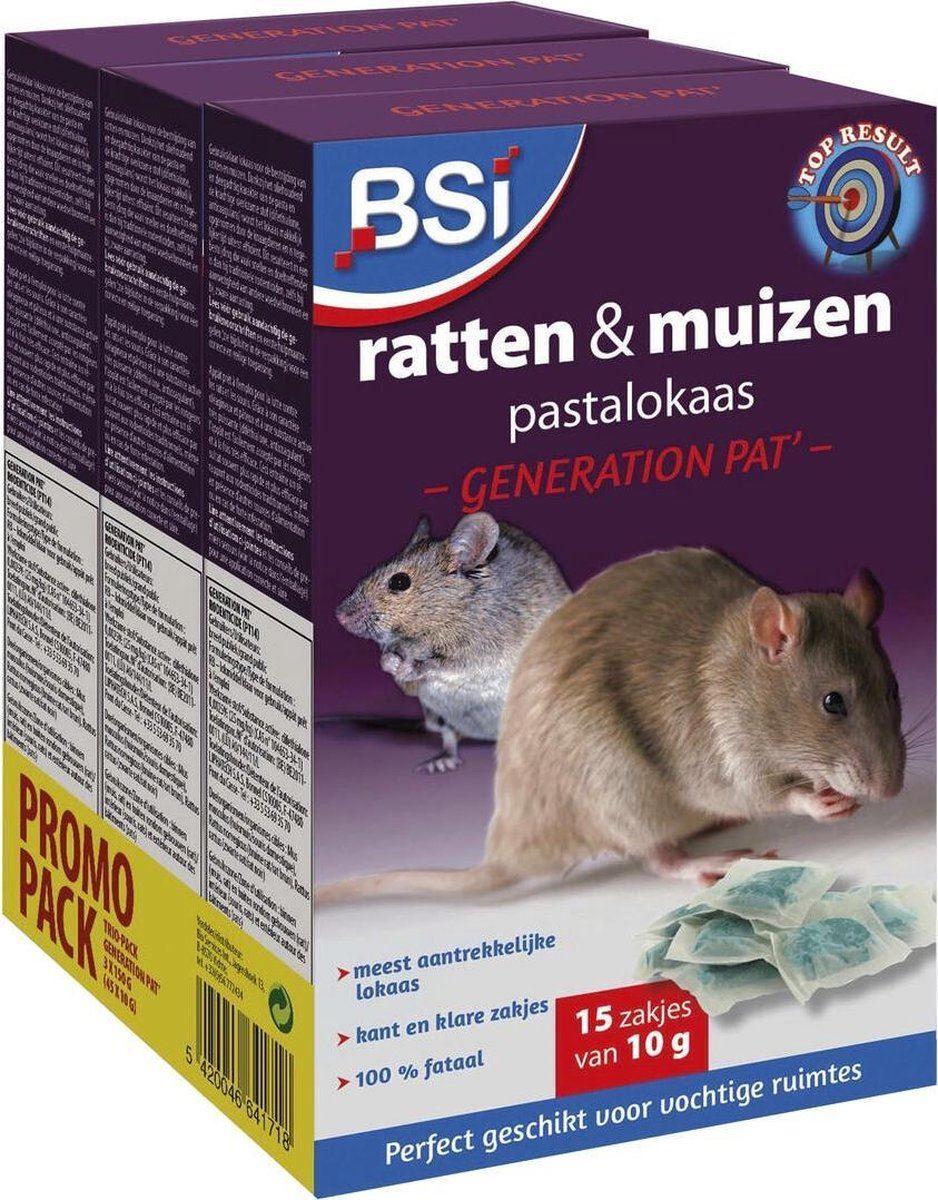 BSI Generation Pat 3 x 150 gr - pastalokaas tegen ratten & muizen (BE)