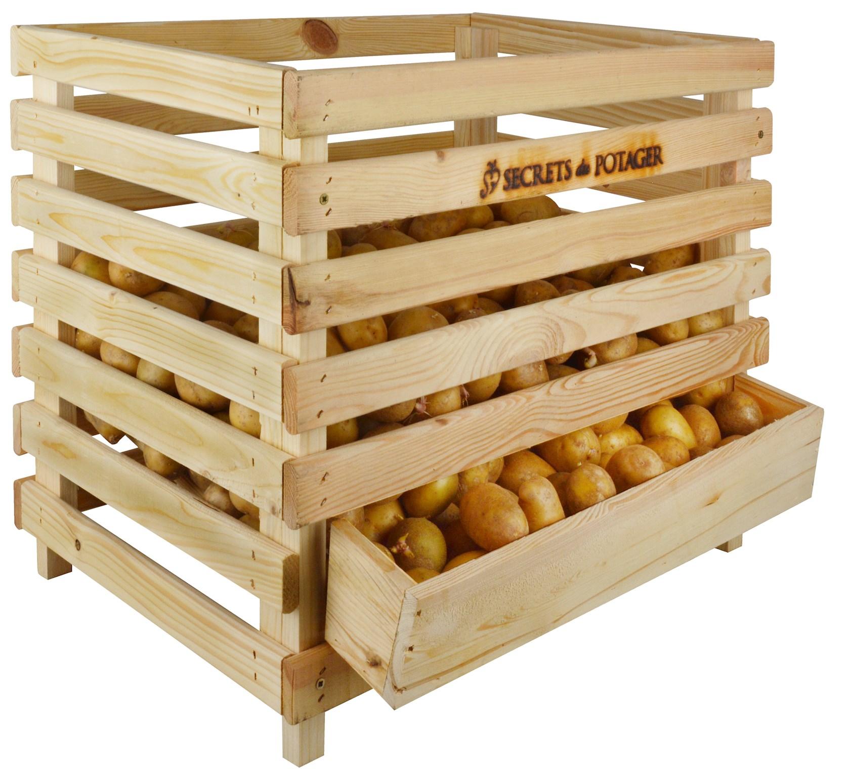 Houten aardappelenkrat