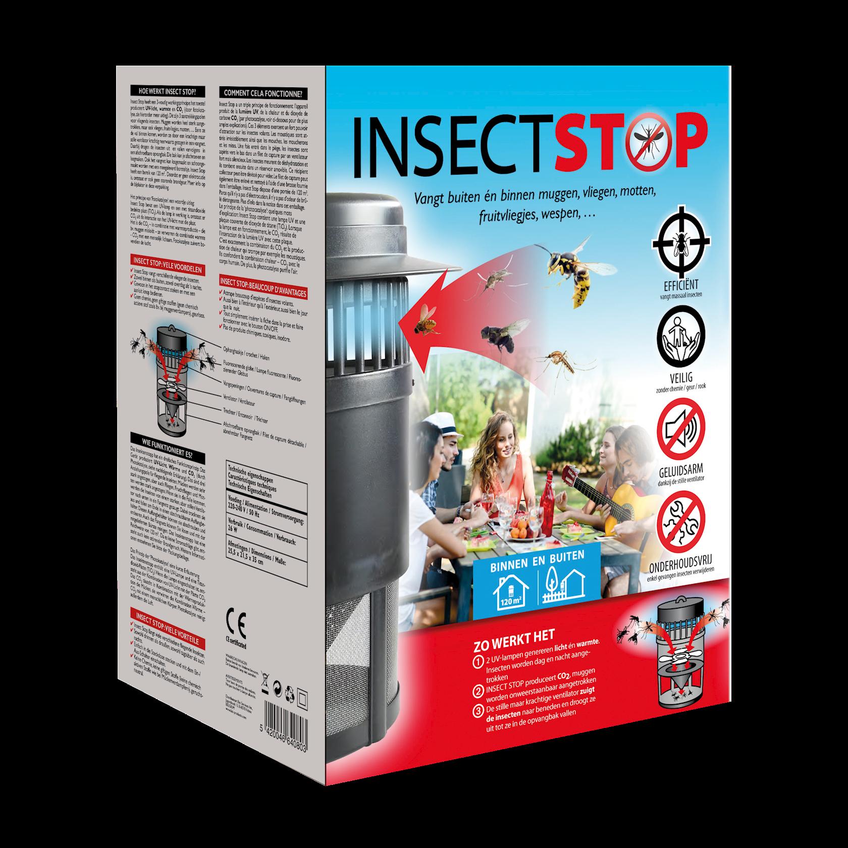 Insect stop tegen muggen, vliegen, fruitvliegen, motten,…