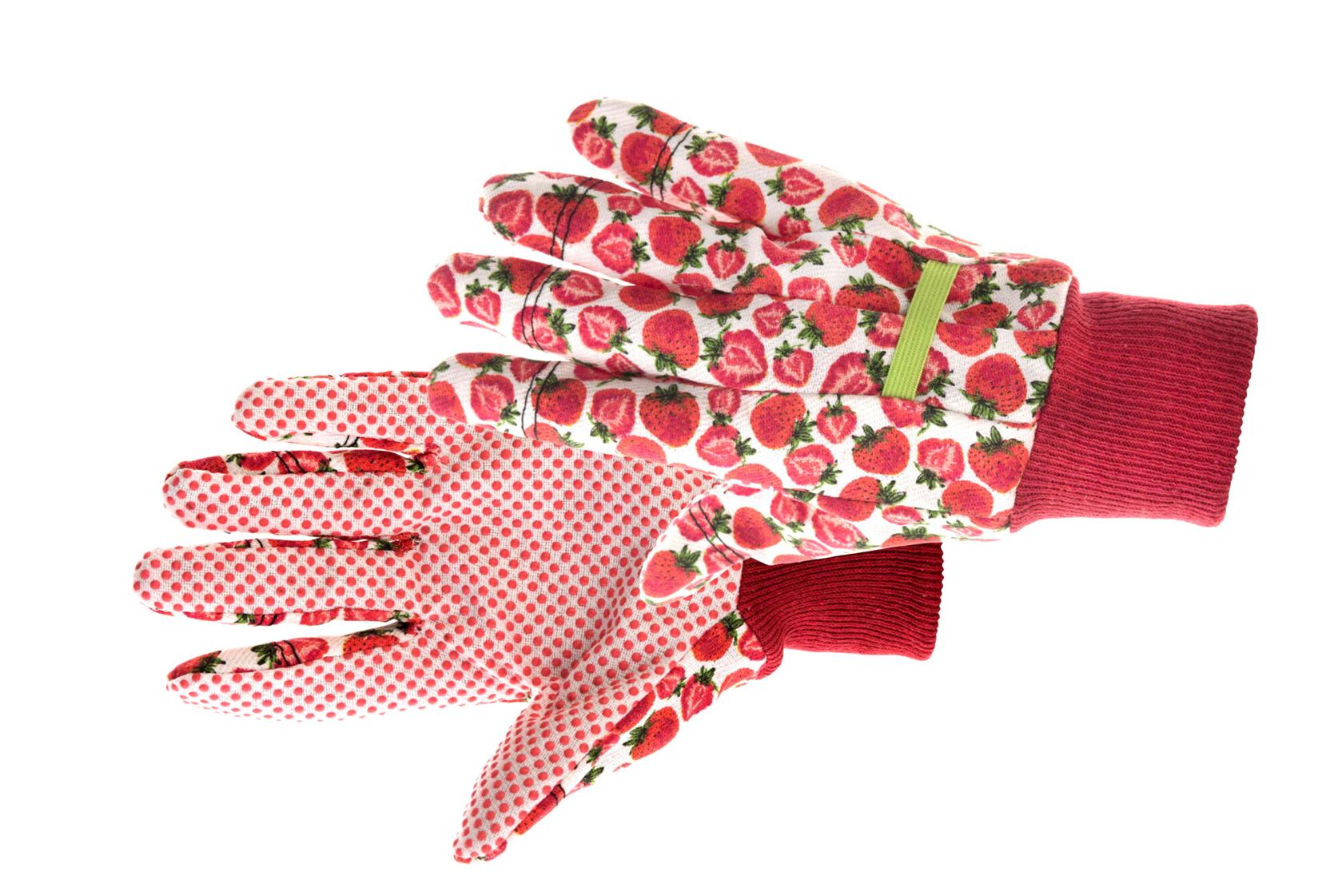 Handschoen Fresh Fruit maat 8 Rood/wit