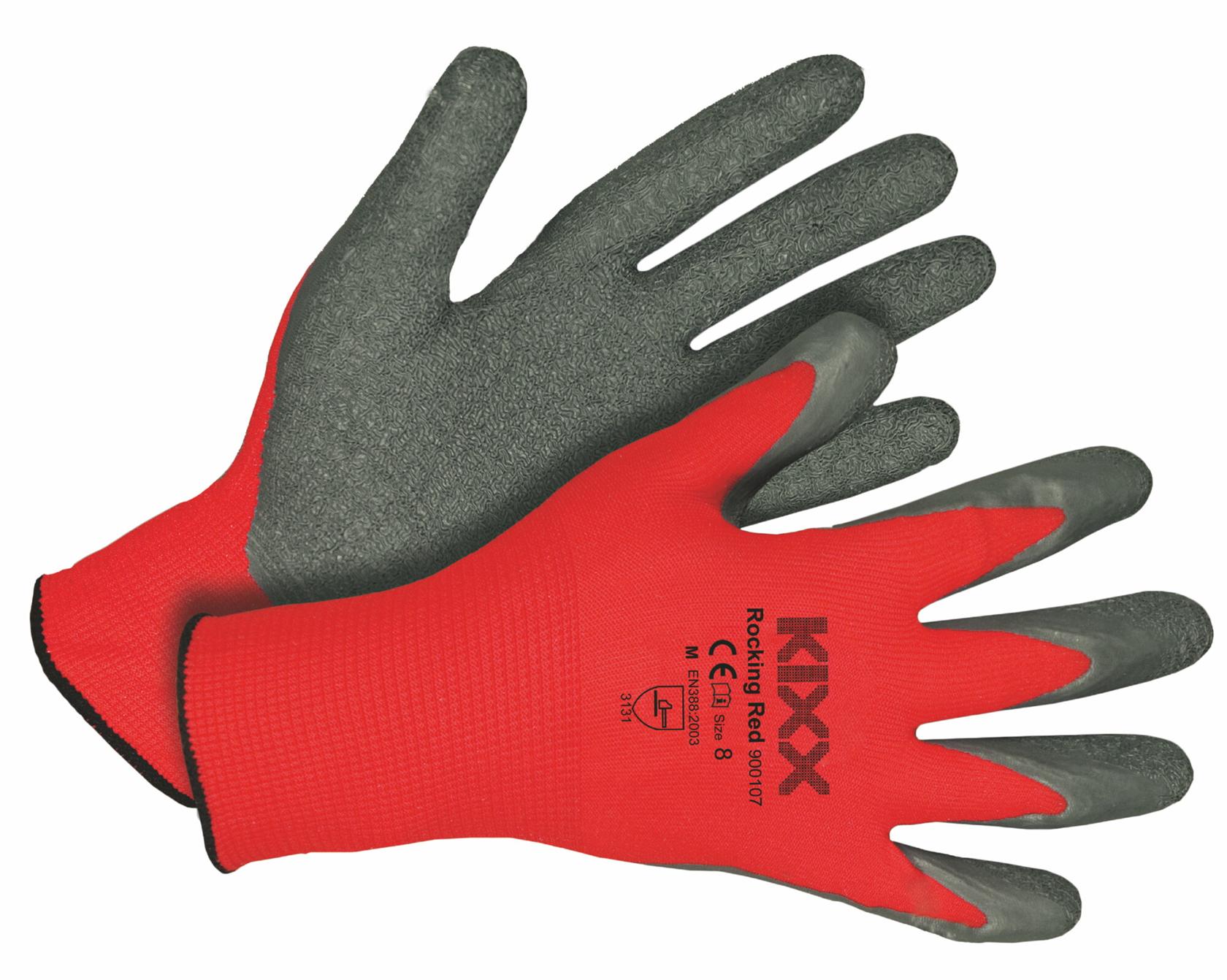 Handschoen Rocking Red maat 8 Rood