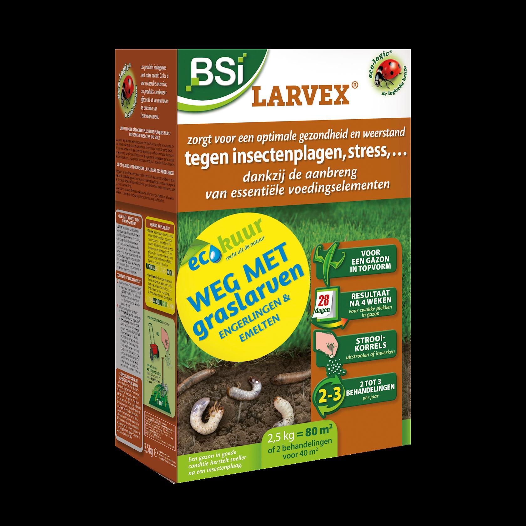 Larvex strooikorrels 2,5kg voor 80m² verdrijft engerlingen, emelten,…