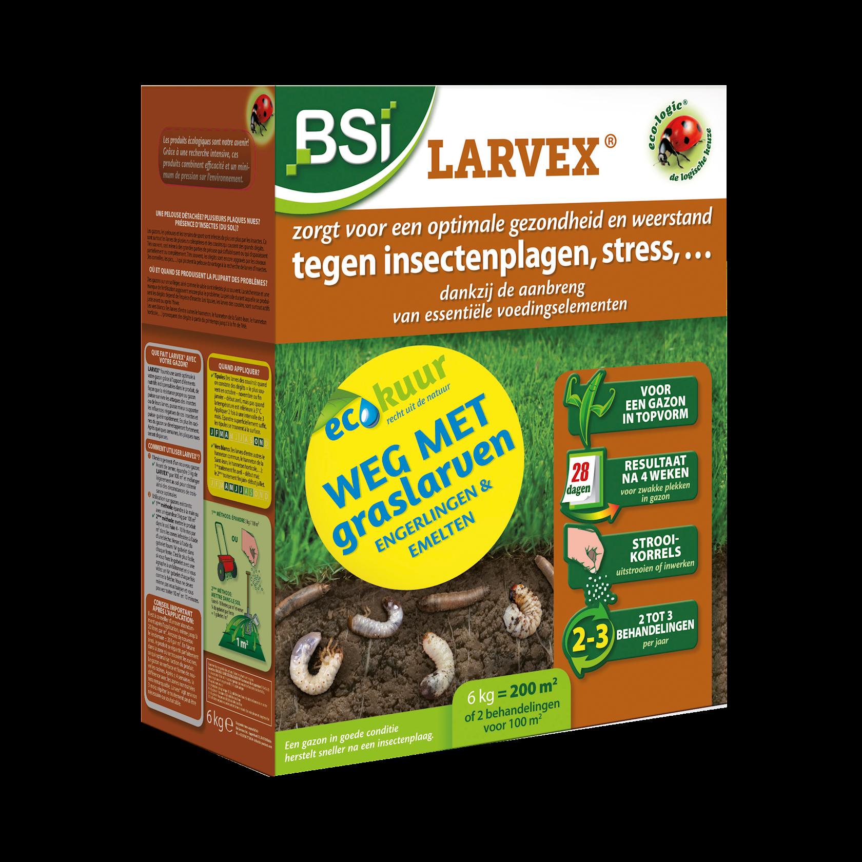 Larvex strooikorrels 6kg voor 200m² verdrijft engerlingen, emelten,…