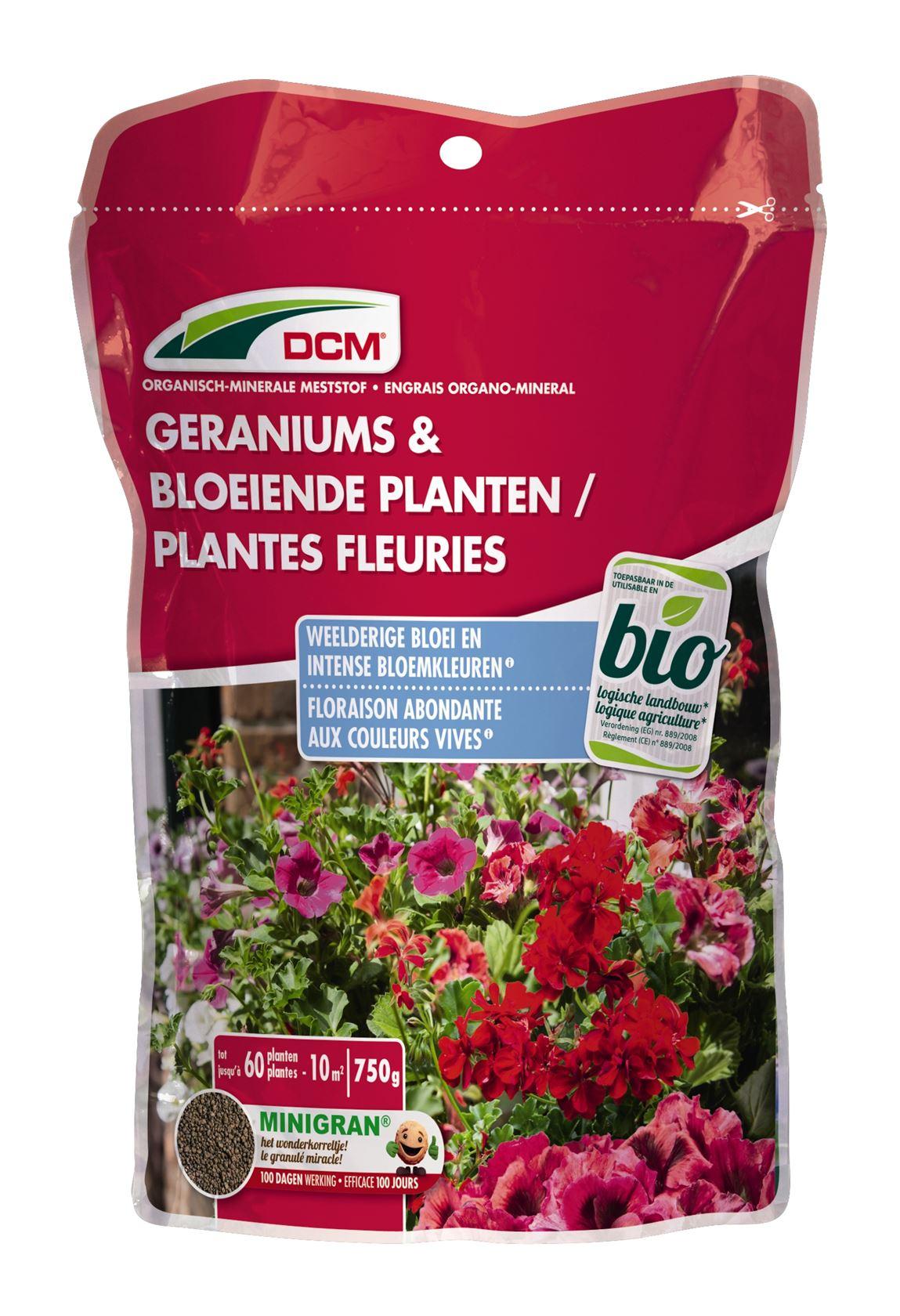 Meststof geraniums & bloeiende planten 0,75kg - Bio