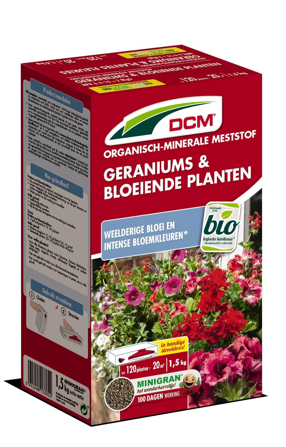 Meststof geraniums & bloeiende planten 1,5kg - Bio