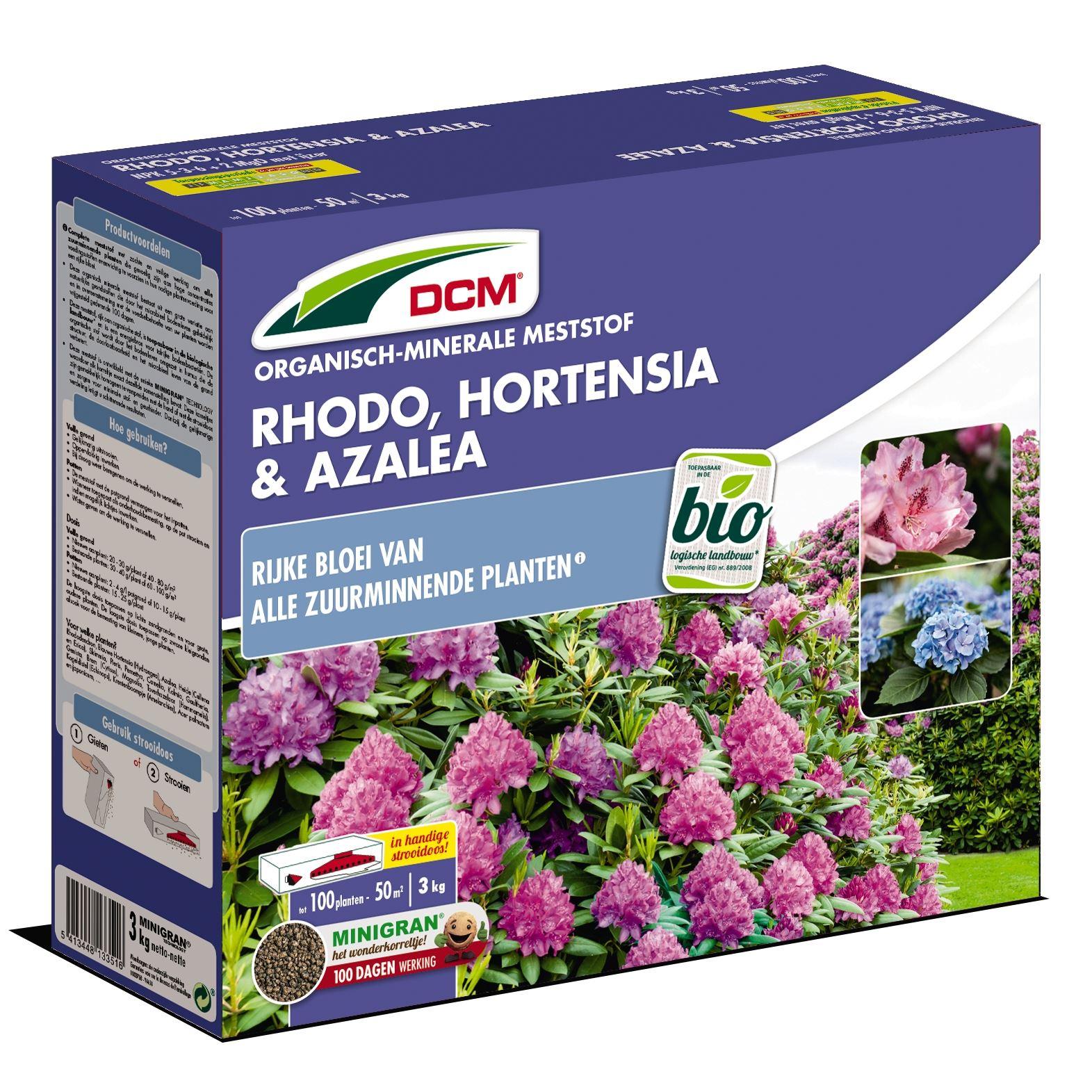 Meststof rhododendron, hortensia & azalea 3kg - Bio