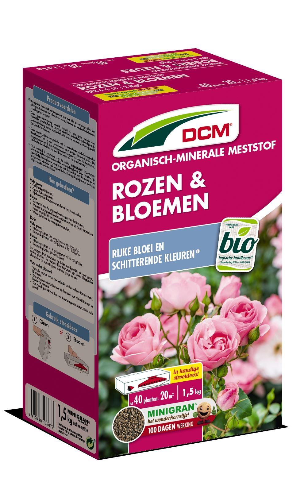 Meststof rozen & bloemen 1,5kg - Bio
