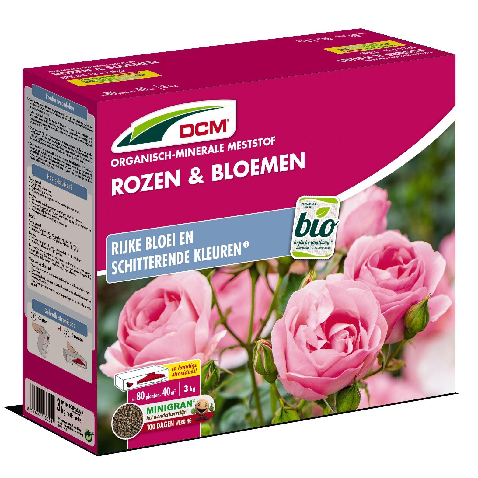 Meststof rozen & bloemen 3kg - Bio