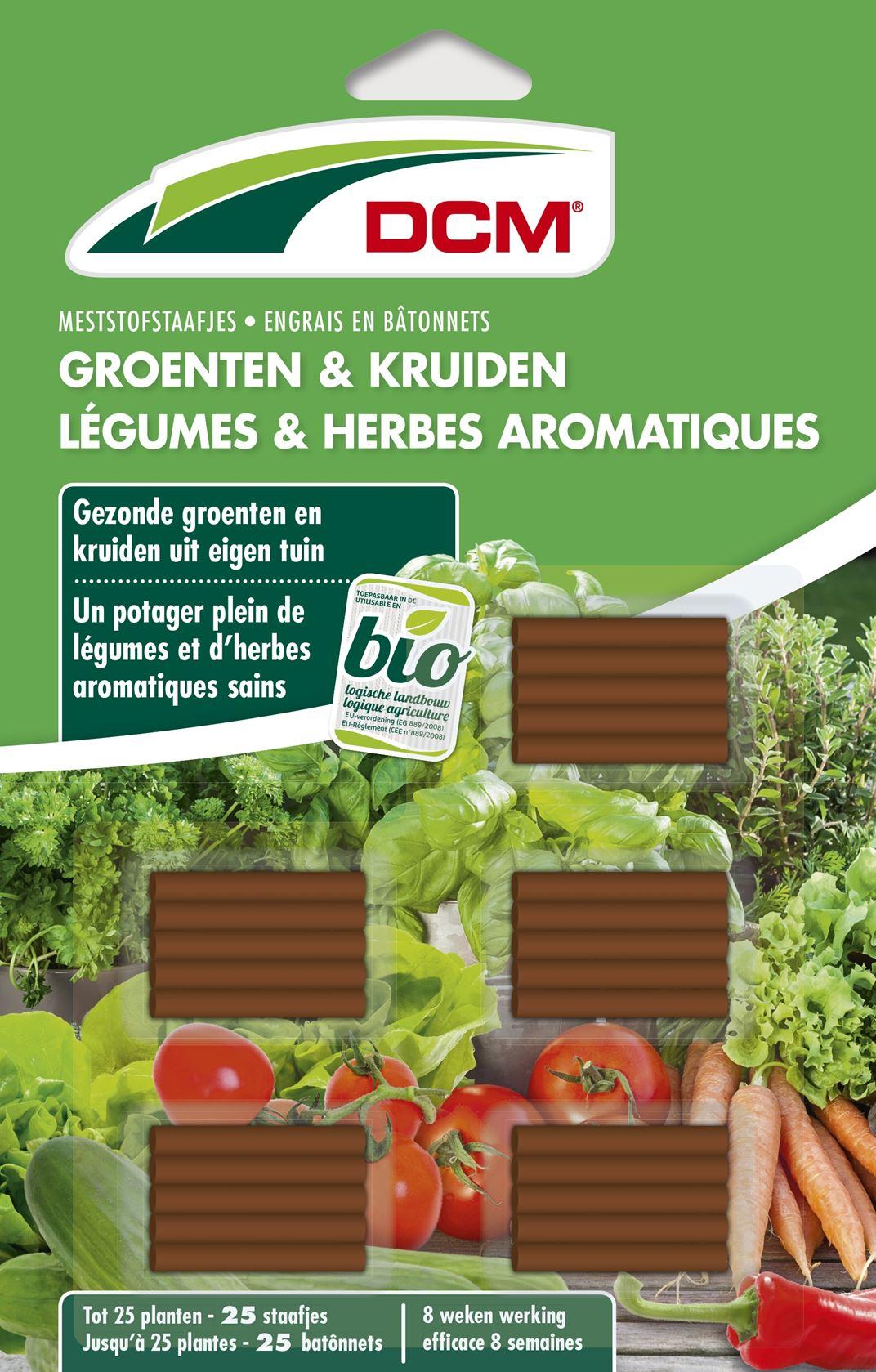 Meststof staafjes groenten en kruiden 25 stuks - Bio