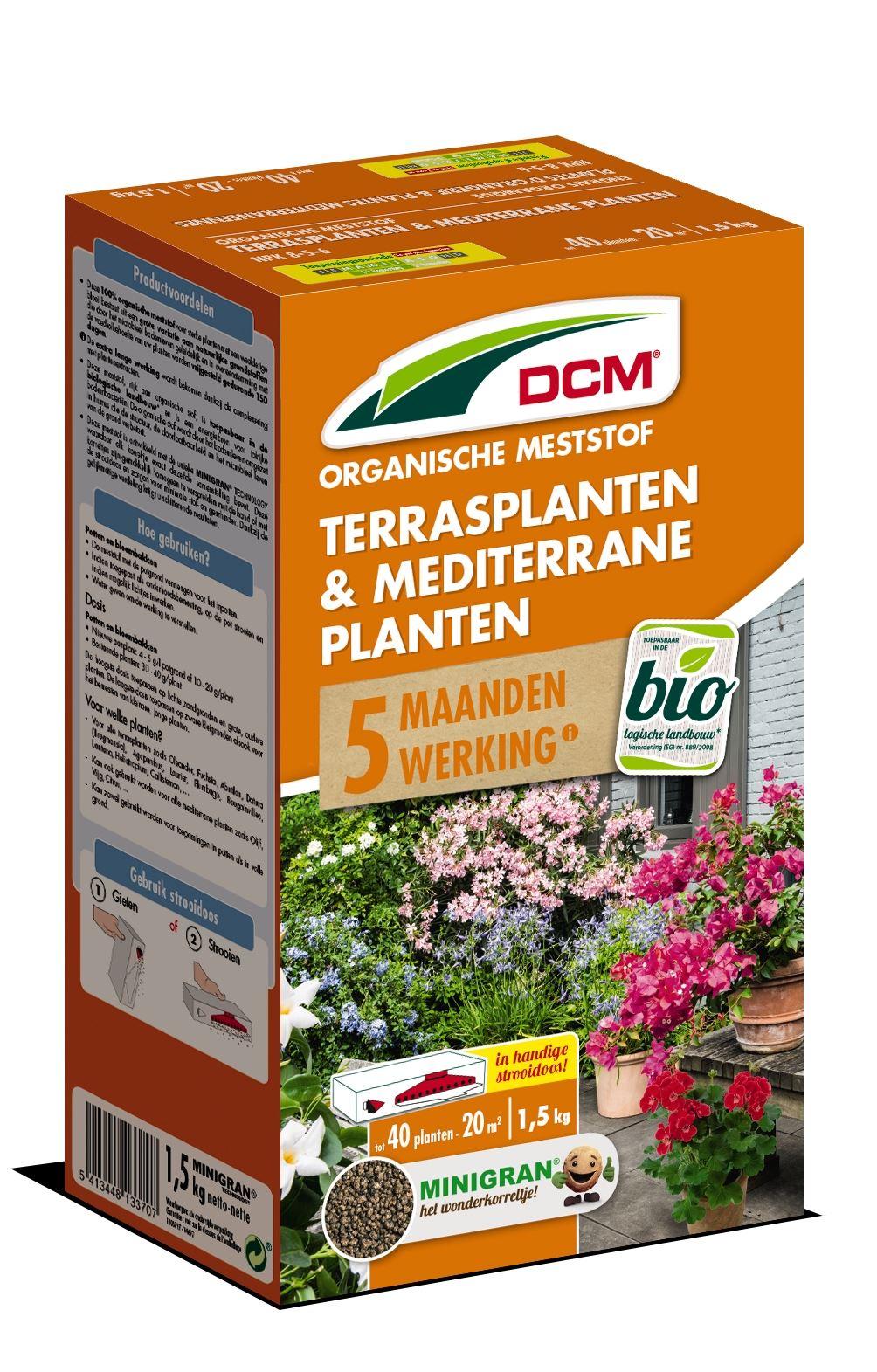 Meststof terrasplanten & mediterrane planten 1,5kg - Bio