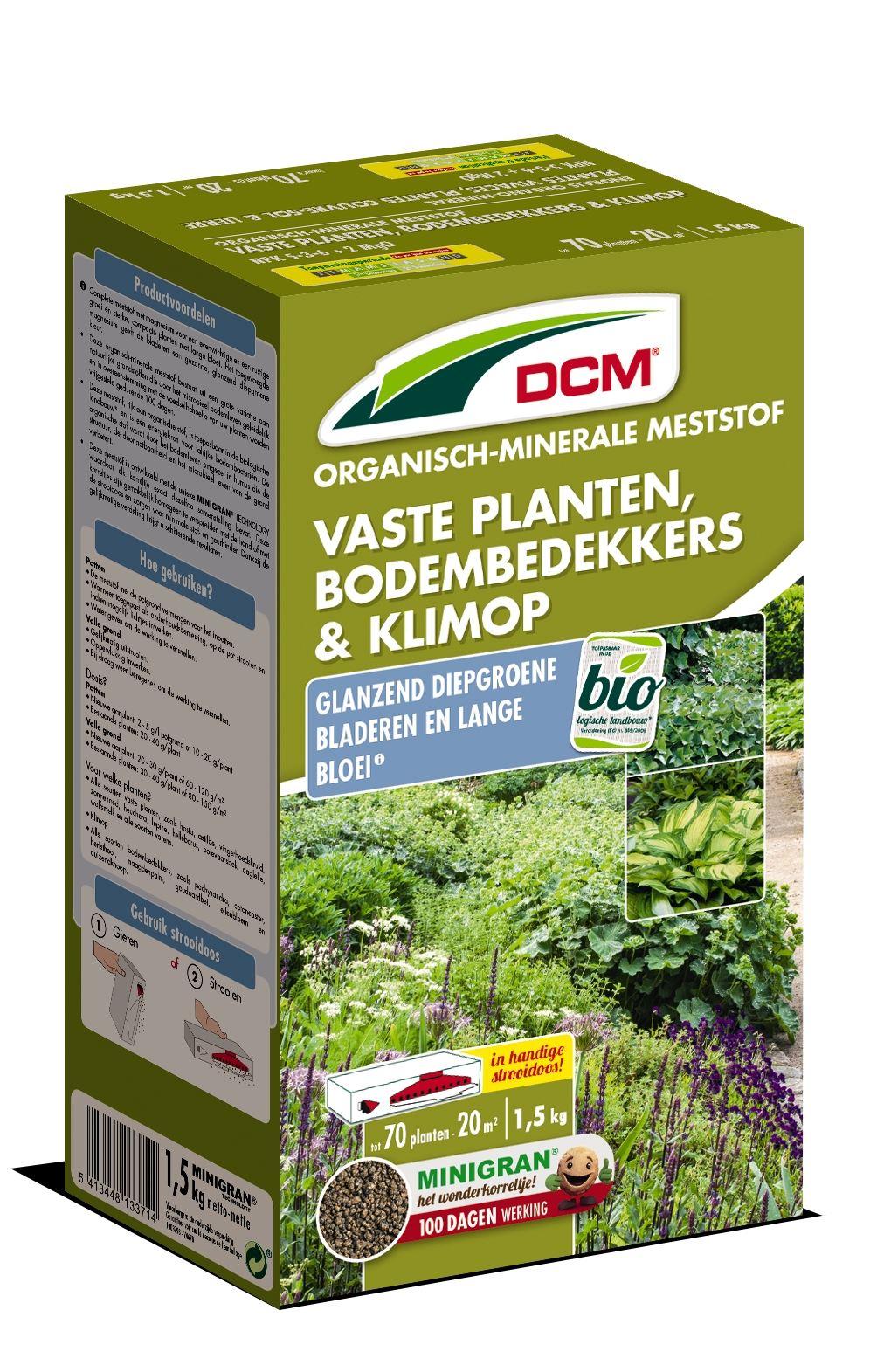 Meststof vaste planten, bodembedekkers & klimop 1,5kg - Bio