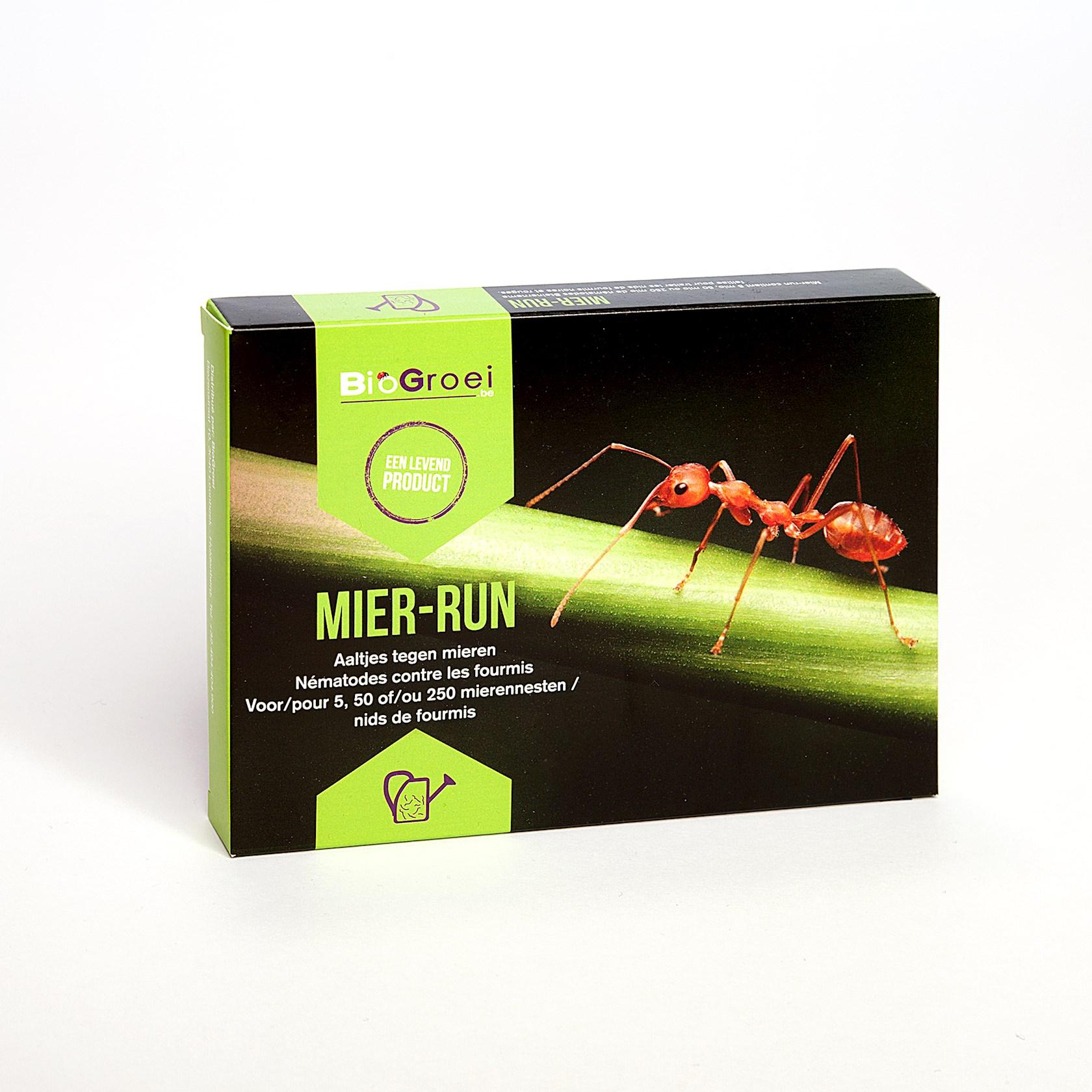 Mier-run 250m² tegen zwarte en rode mieren