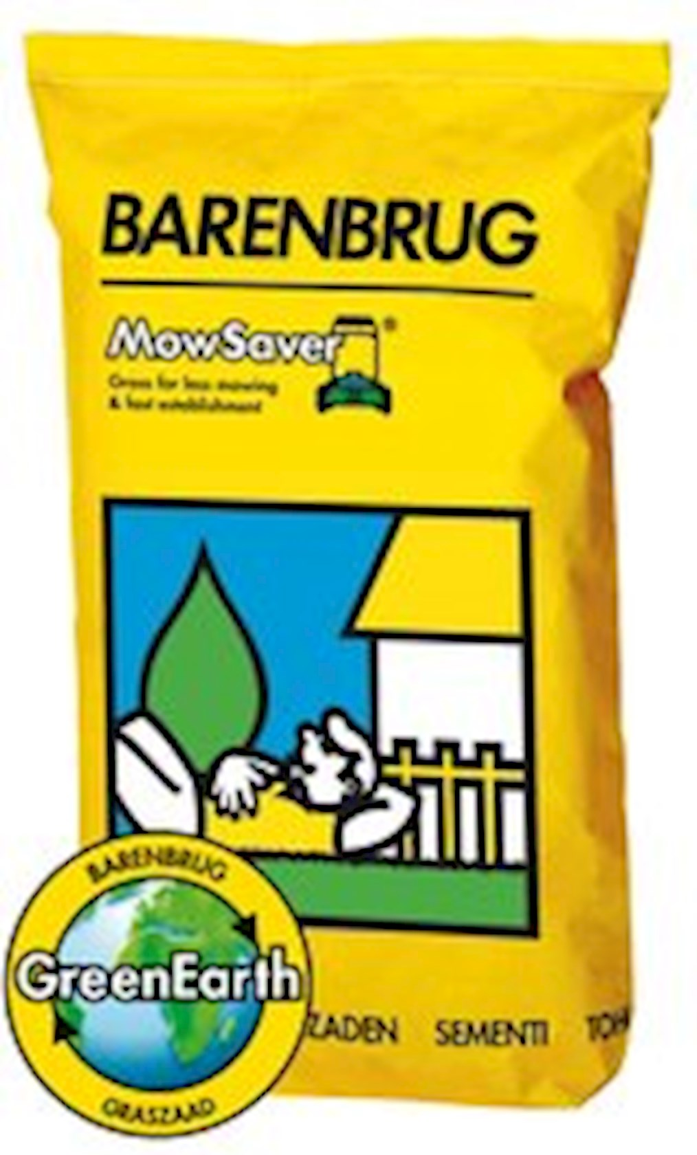 Mow saver - minder maaien graszaad 15Kg met coating (yellow Jacket water management)