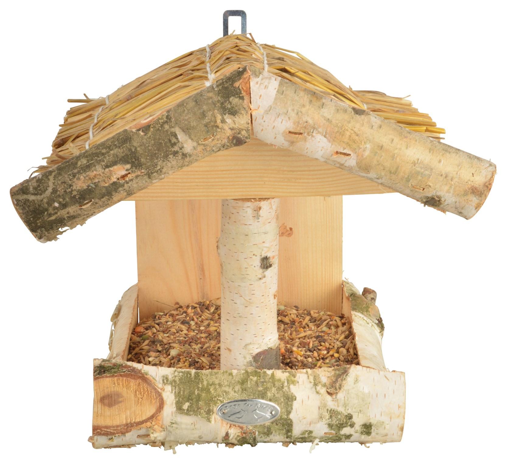 Muurvoederhuis in berkenhout