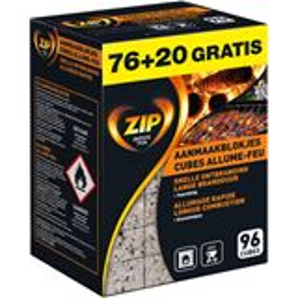 Zip aanmaakblokjes 'Energy Original' - 76+20 gratis = 96 stuks