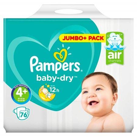 Pampers Baby Dry Luiers Air - Maat 4+ - 76+stuks