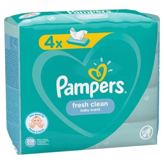Pampers Babydoekjes billendoekjes Fresh Clean 4x 52st = 208 Stuks