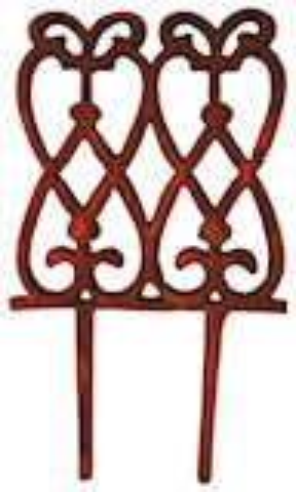 Gietijzeren perkhek met sierlijke krullen 15x28cm
