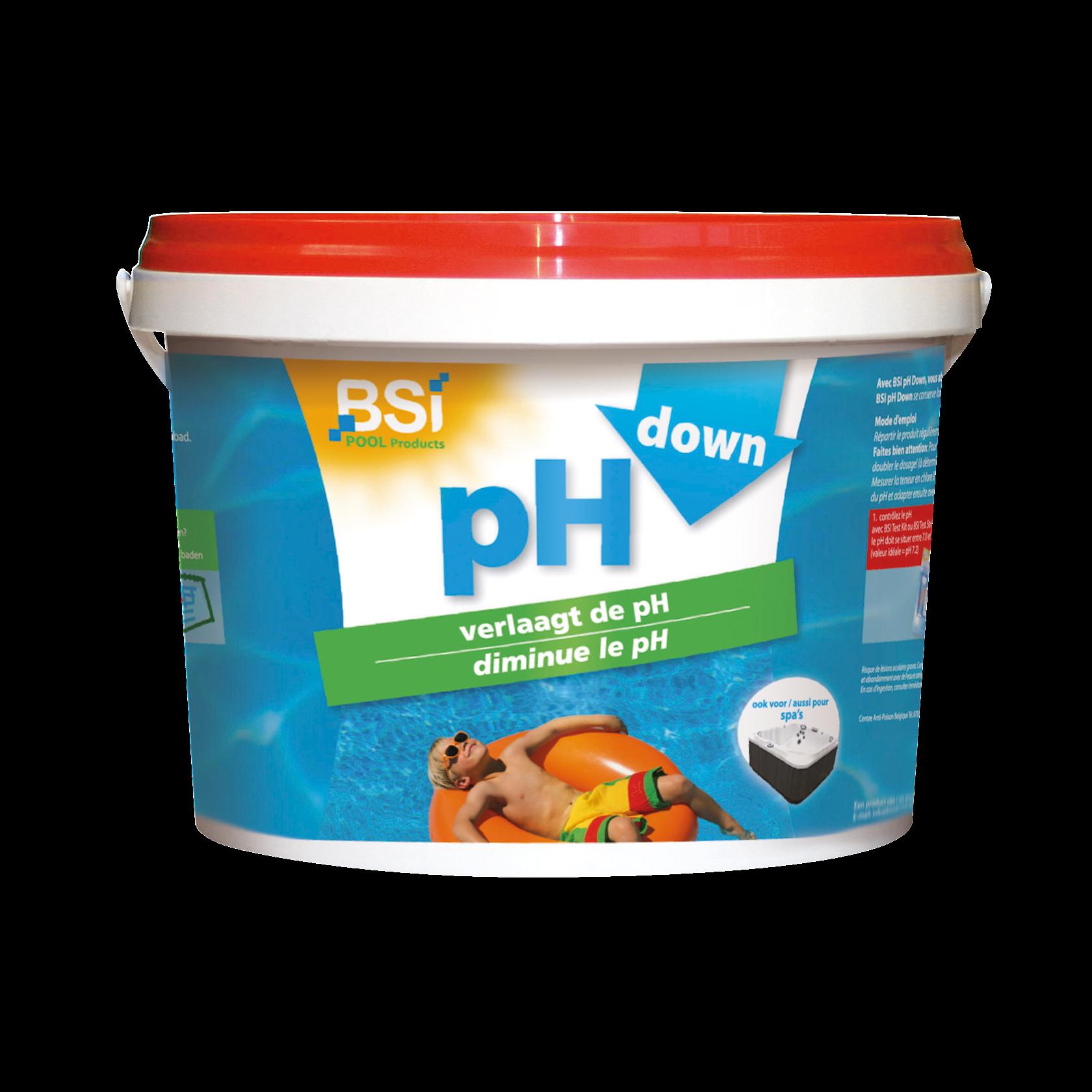 pH down poeder 5kg: verlaagt de pH-waarde van zwembad of spa