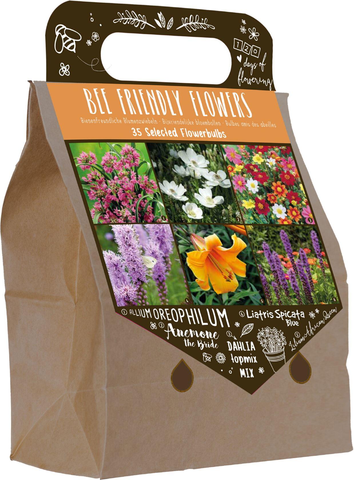 """Pick-up tas met 35 voorjaarsbollen """"Bijen vriendelijk"""""""