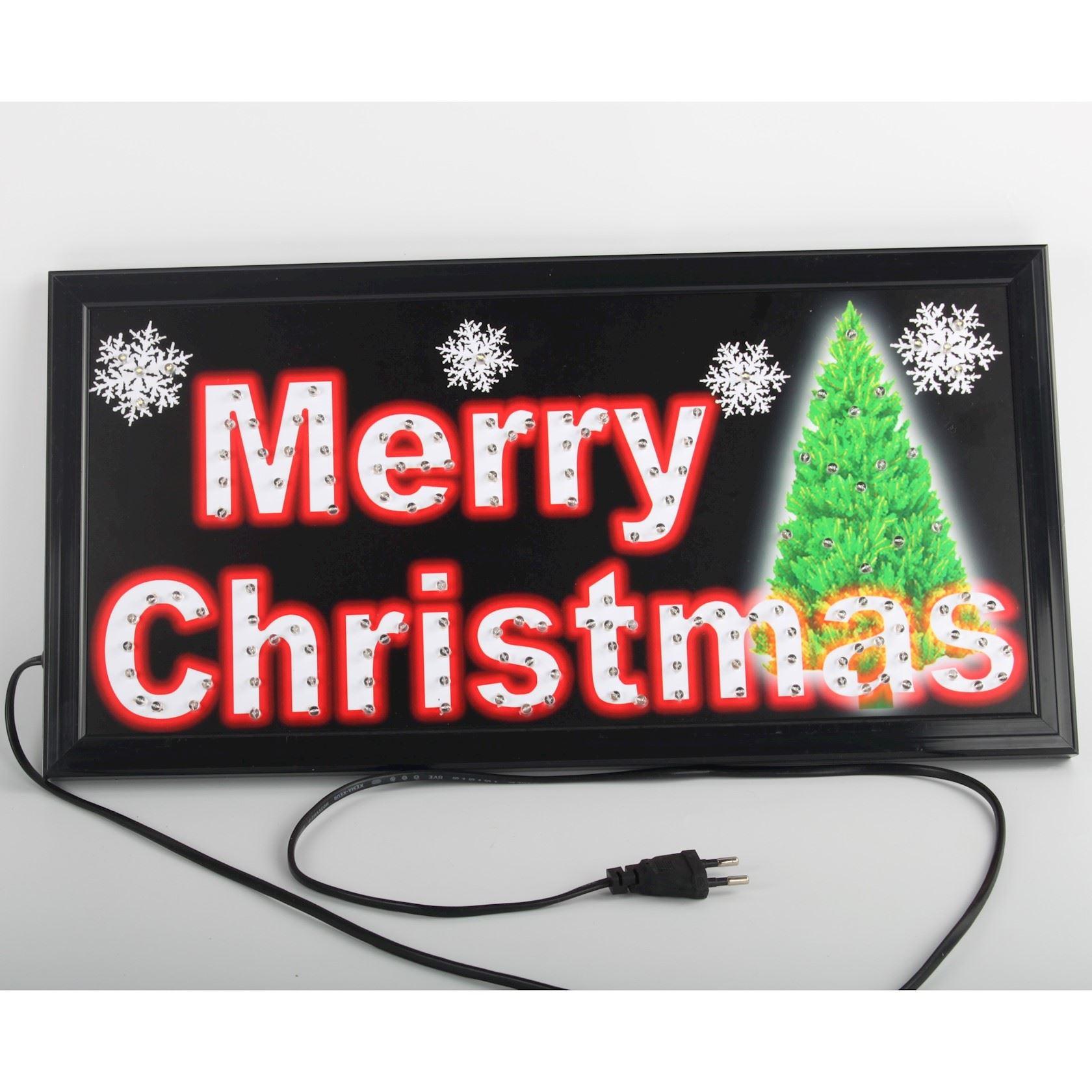 Plaat Merry Christmas LED